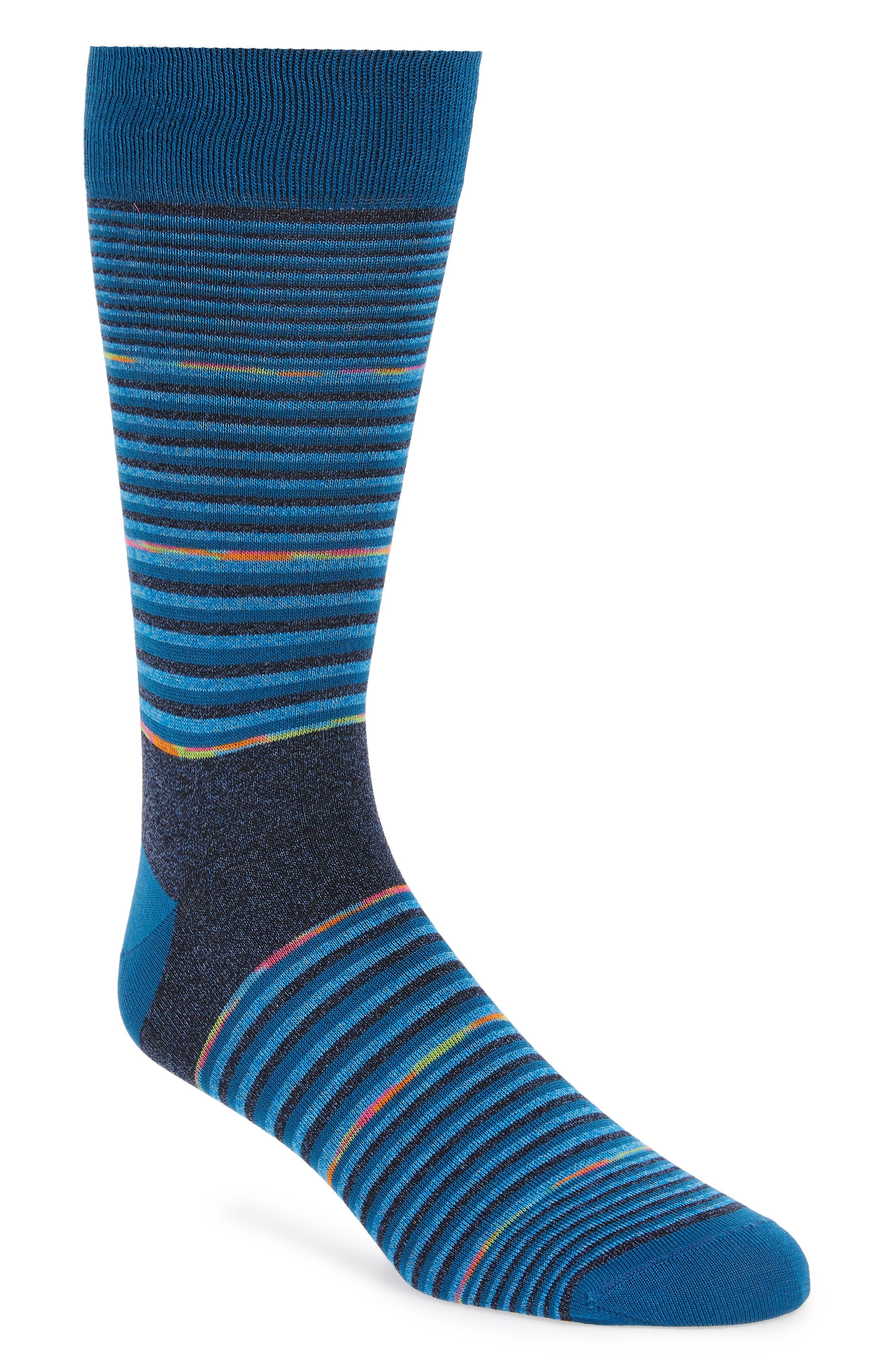 Stripe Socks,                             Main thumbnail 1, color,                             TEAL