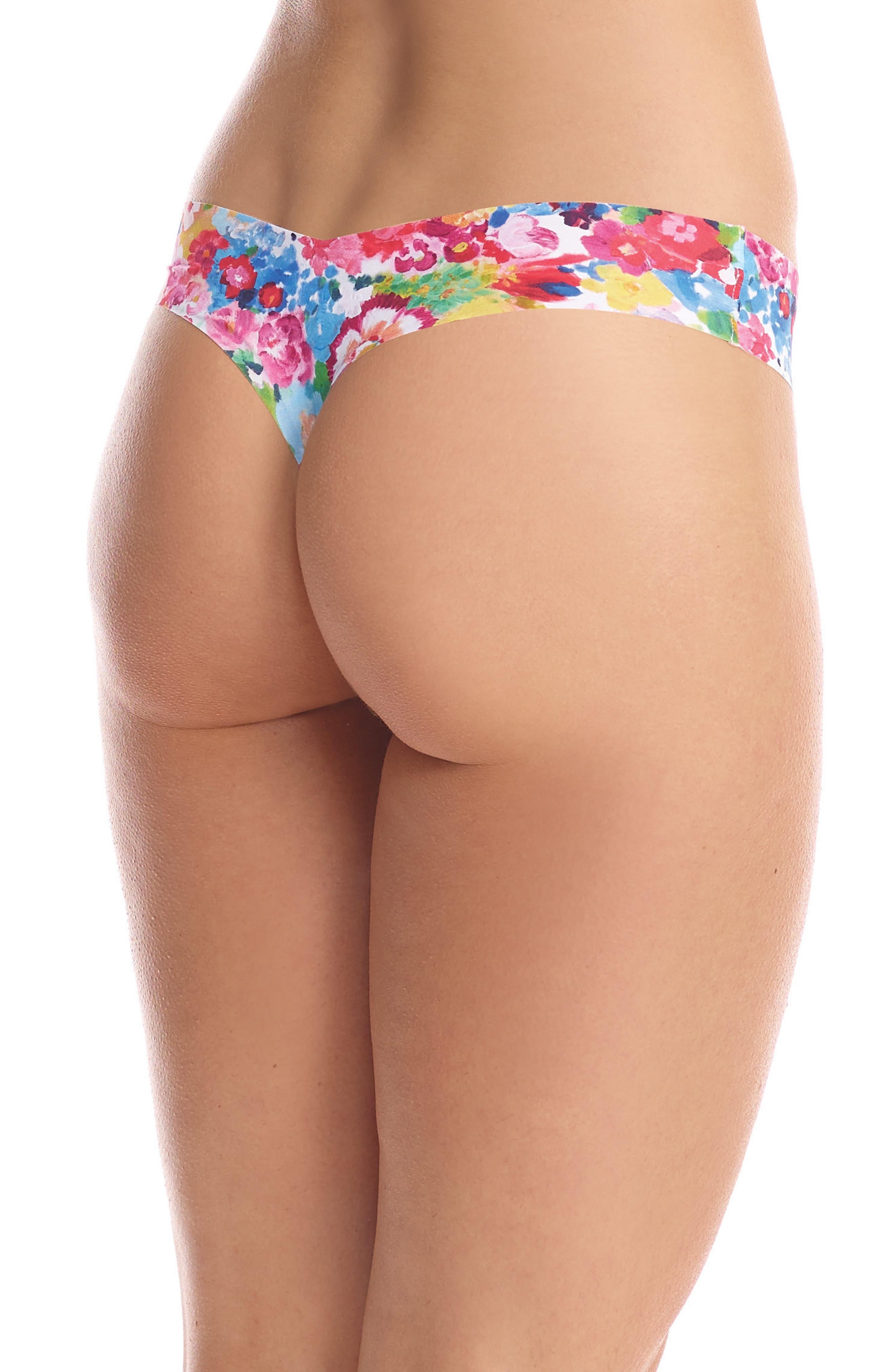 Print Microfiber Thong,                             Alternate thumbnail 123, color,