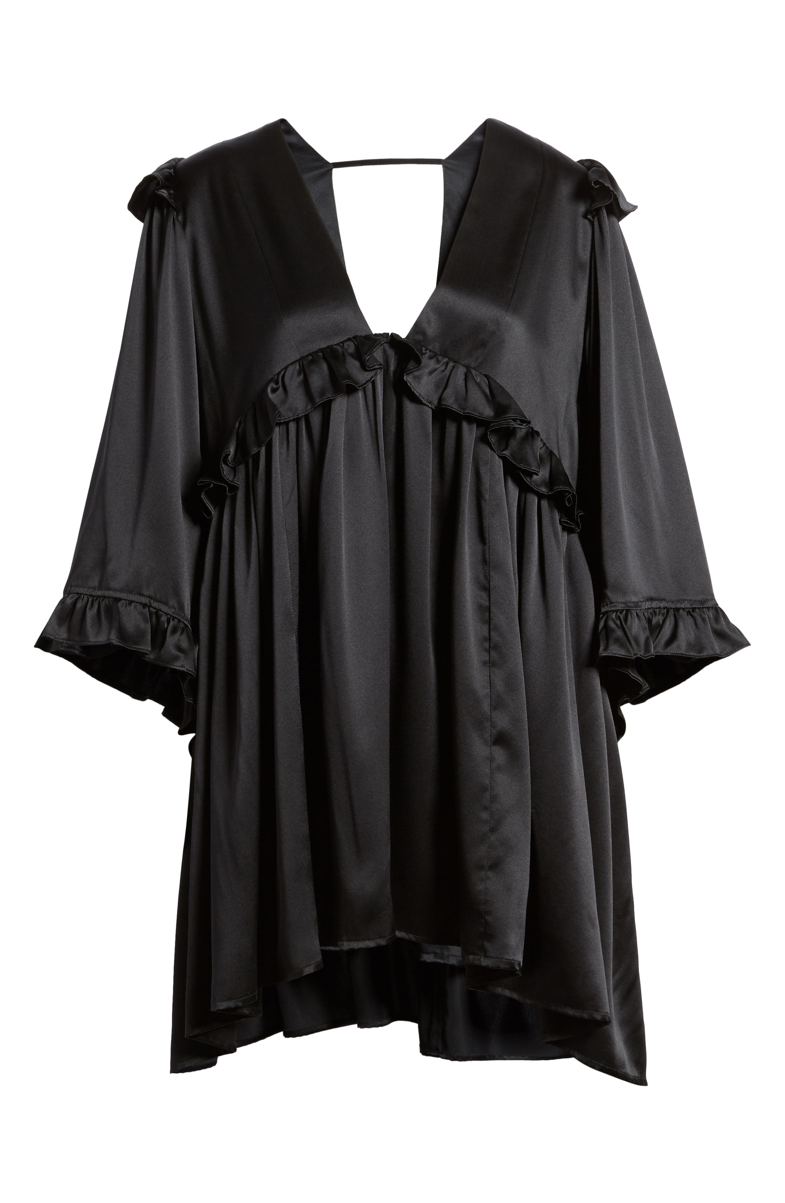 Angeles Babydoll Dress,                             Alternate thumbnail 6, color,                             001
