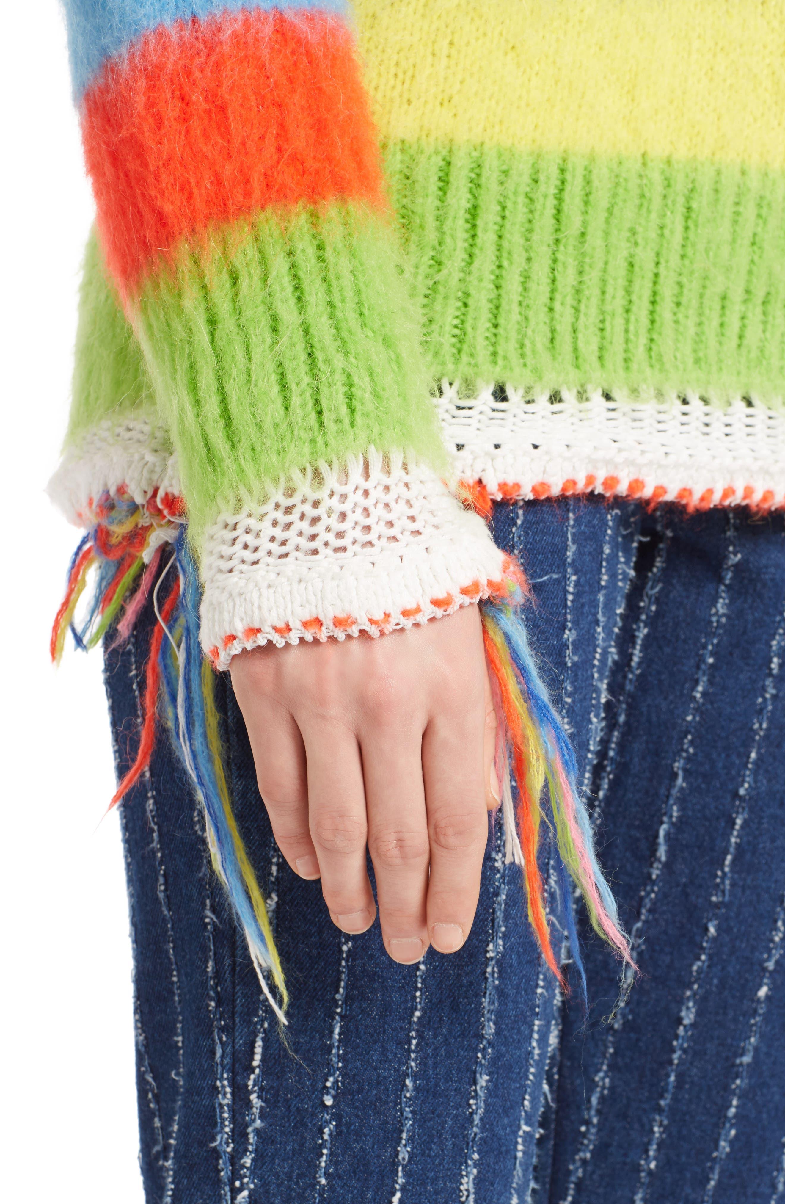 Multi Stripe Sweater,                             Alternate thumbnail 4, color,                             020