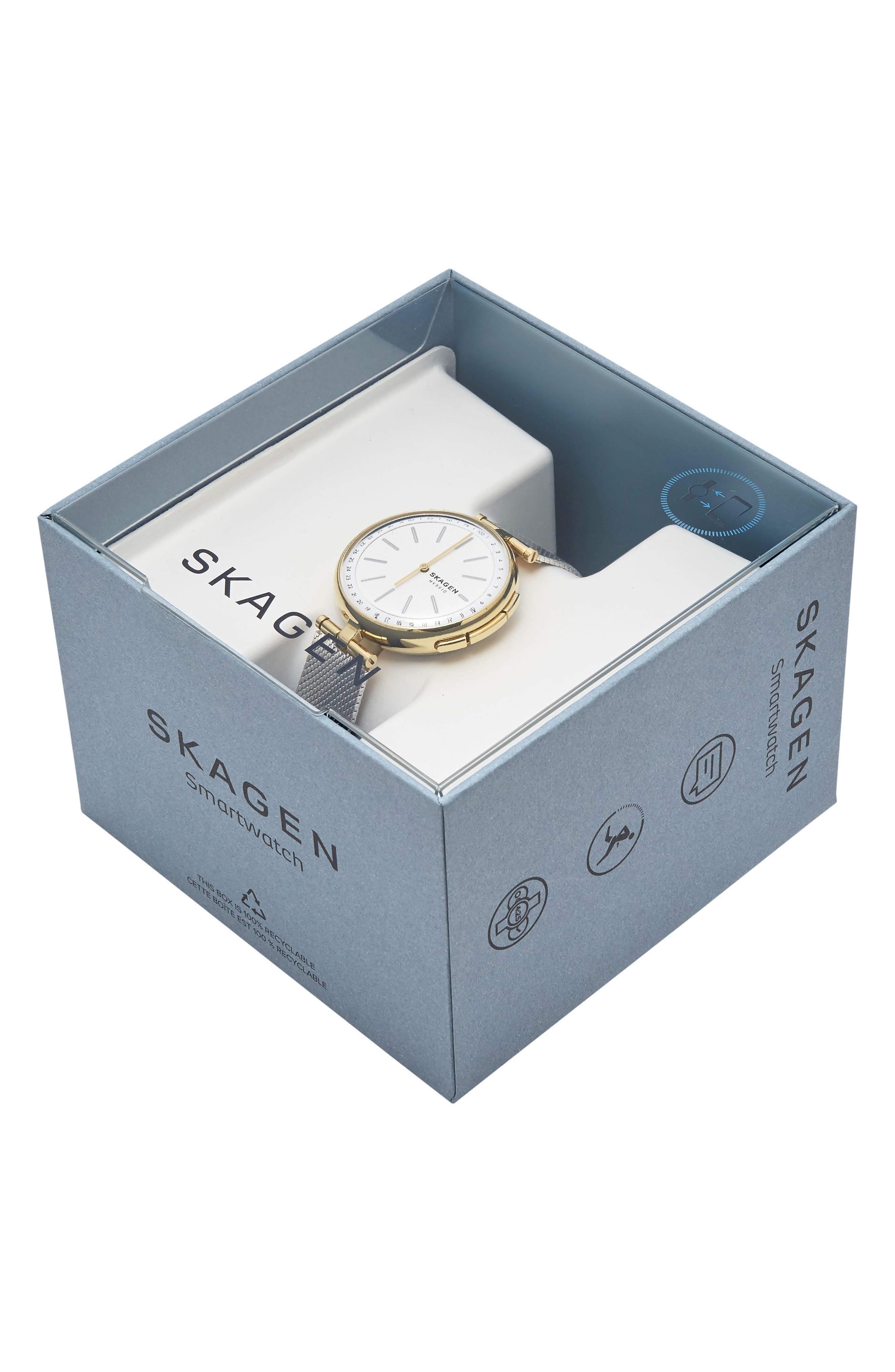 Signature T-Bar Hybrid Smartwatch, 36mm,                             Alternate thumbnail 4, color,                             SILVER/ GOLD