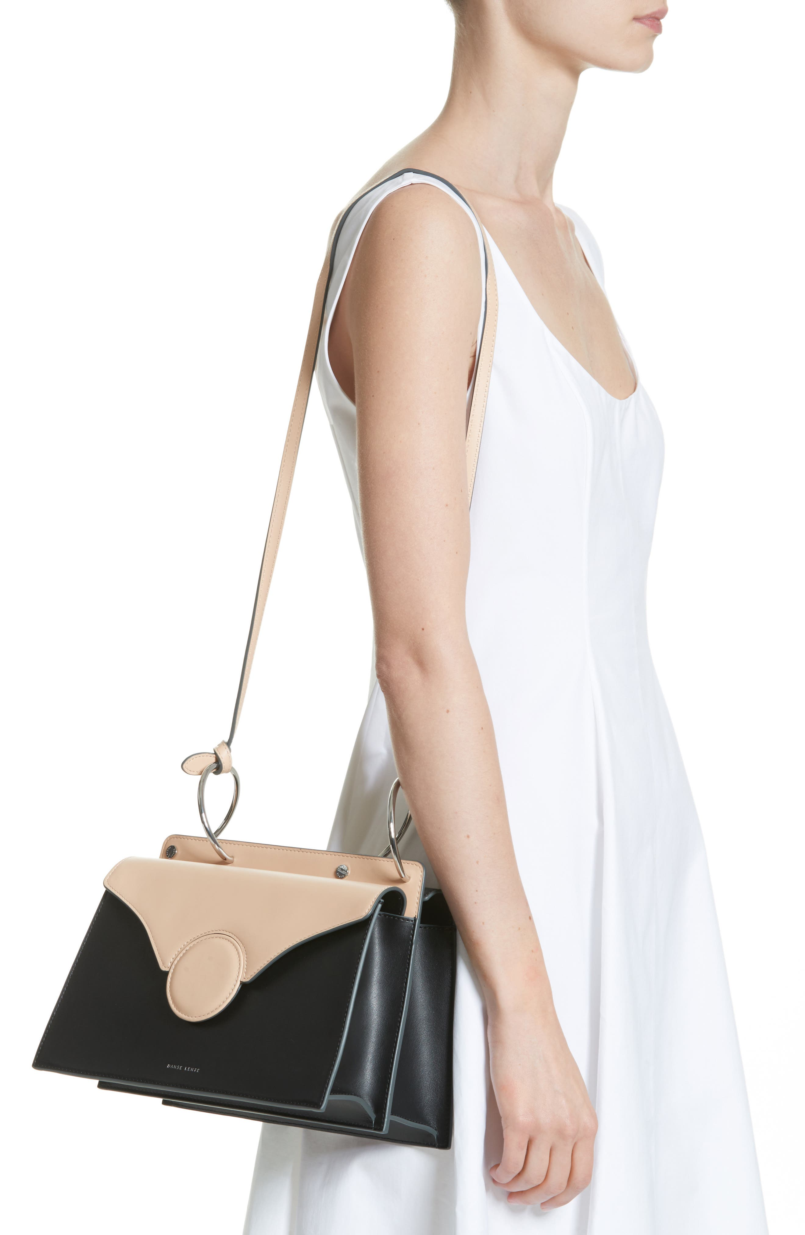 Phoebe Leather Crossbody Bag,                             Alternate thumbnail 2, color,                             NUDE