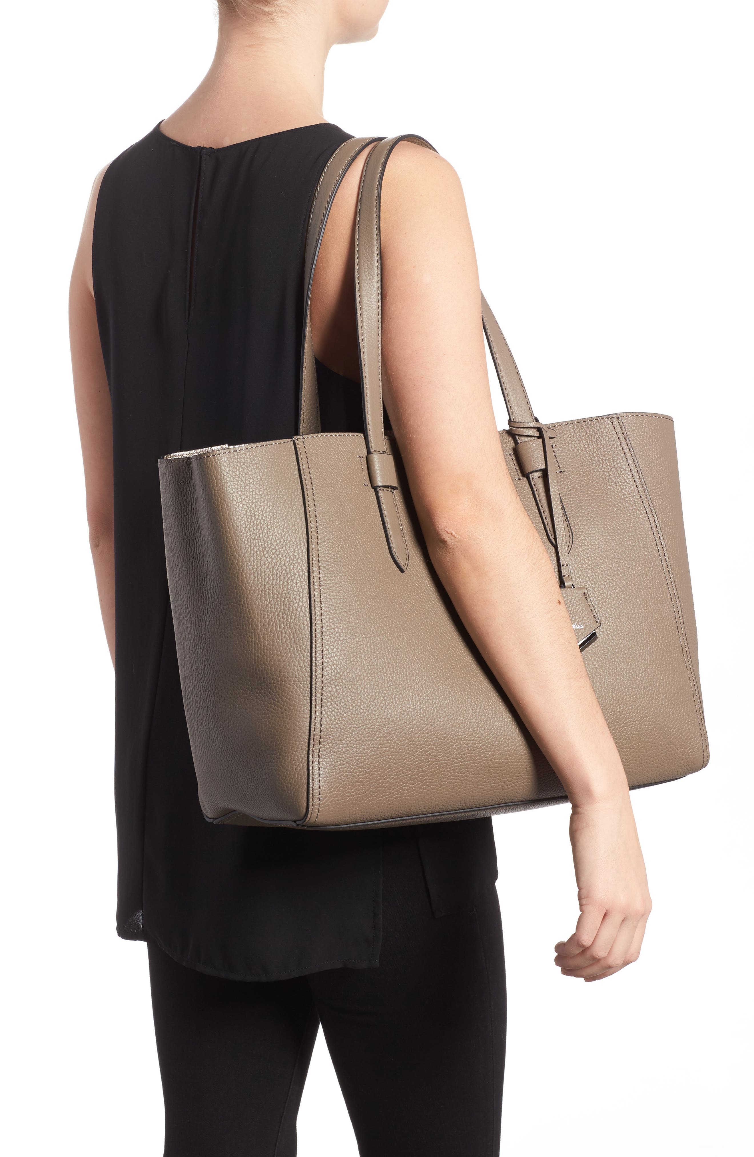 Thompson Calfskin Tote,                             Alternate thumbnail 2, color,                             200