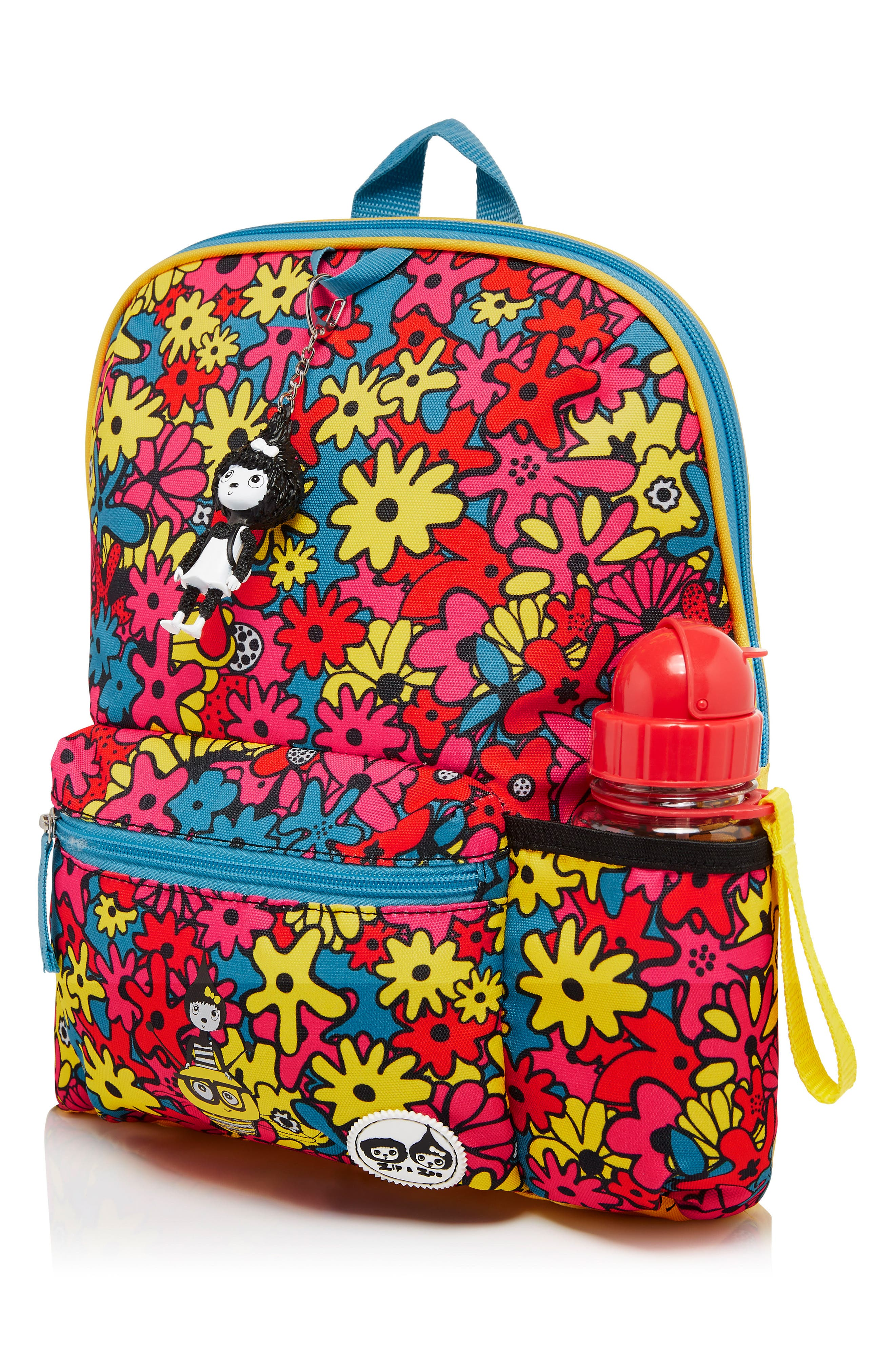 Print Backpack,                             Alternate thumbnail 3, color,                             FLORAL BRIGHTS