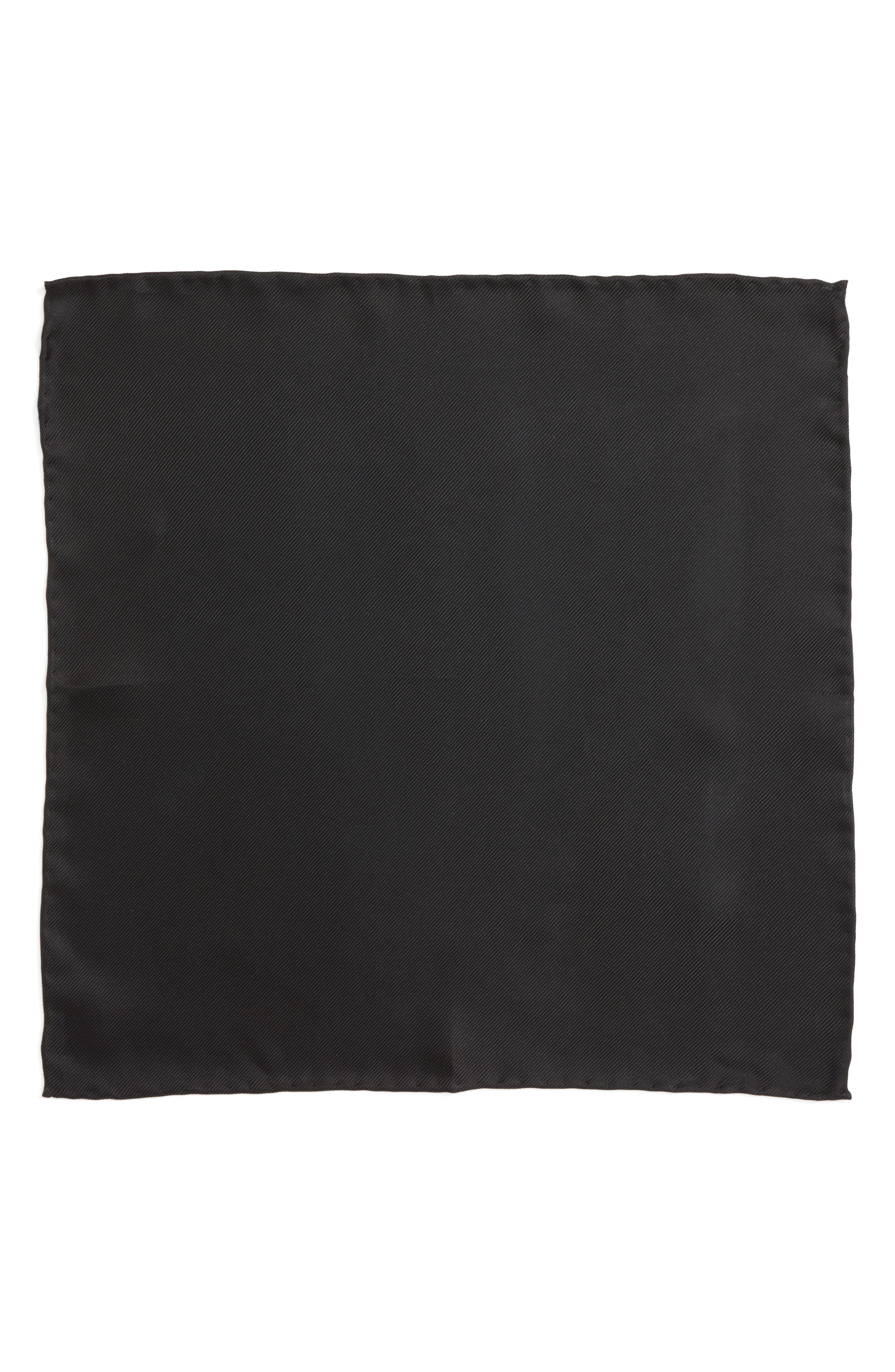 Men's Shop Silk Twill Pocket Square,                             Alternate thumbnail 2, color,                             001
