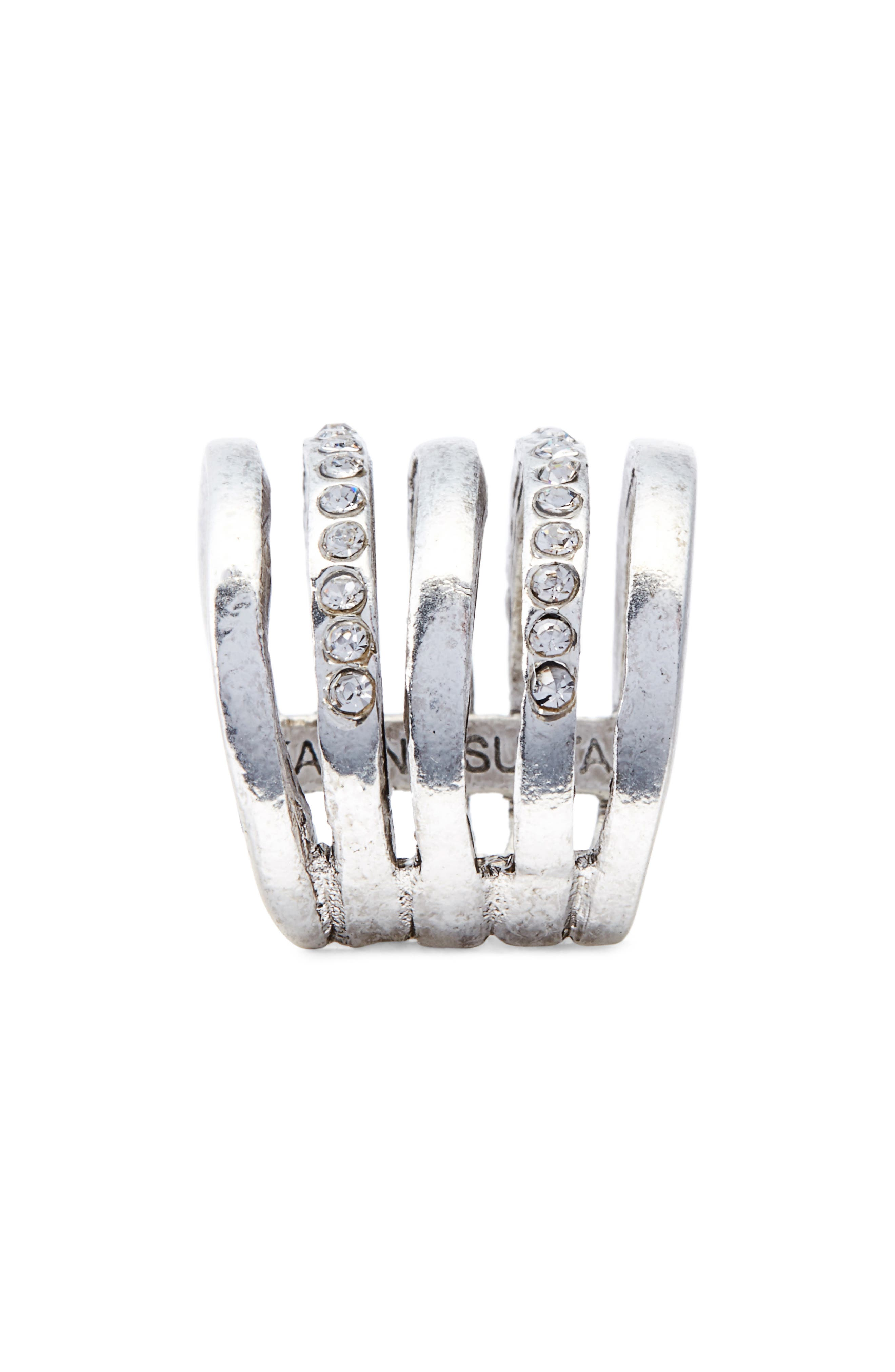 Claire Cage Ring,                             Alternate thumbnail 2, color,                             SILVER