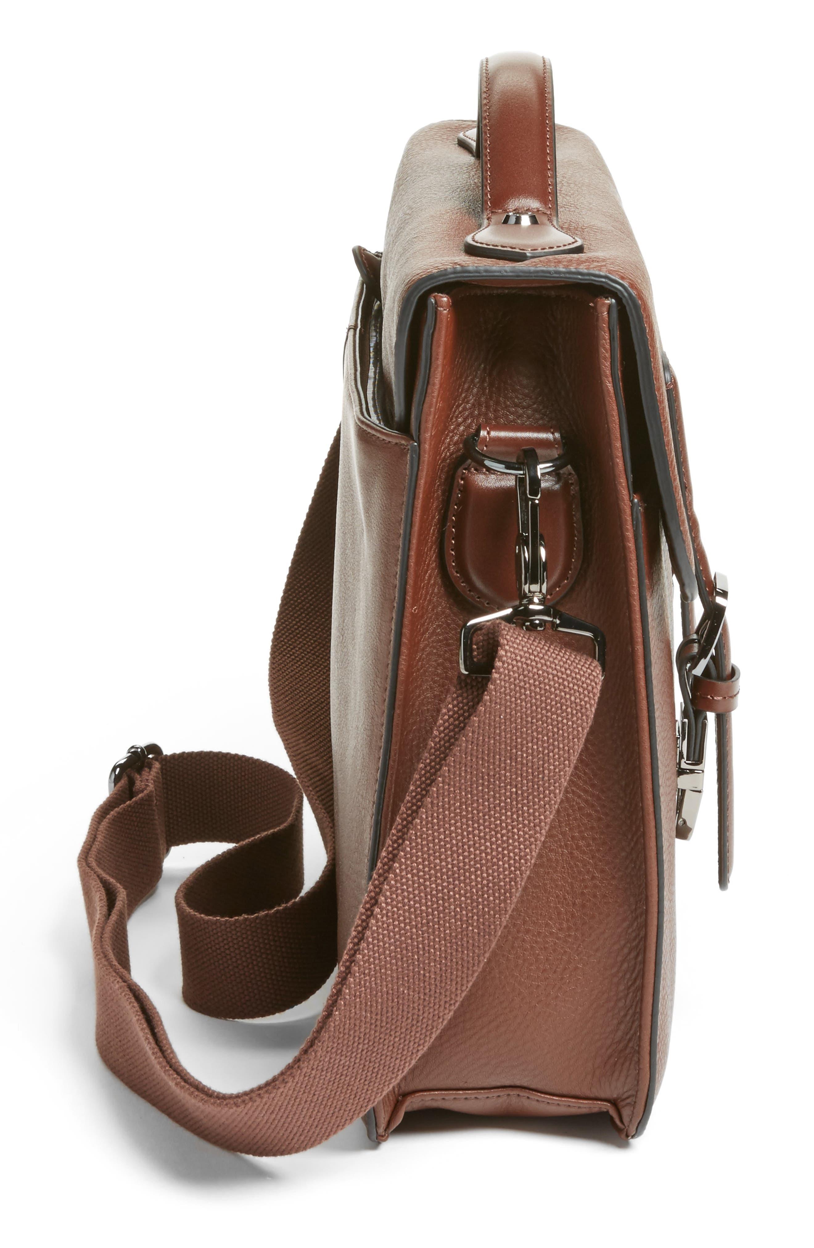 Bengal Leather Satchel,                             Alternate thumbnail 10, color,