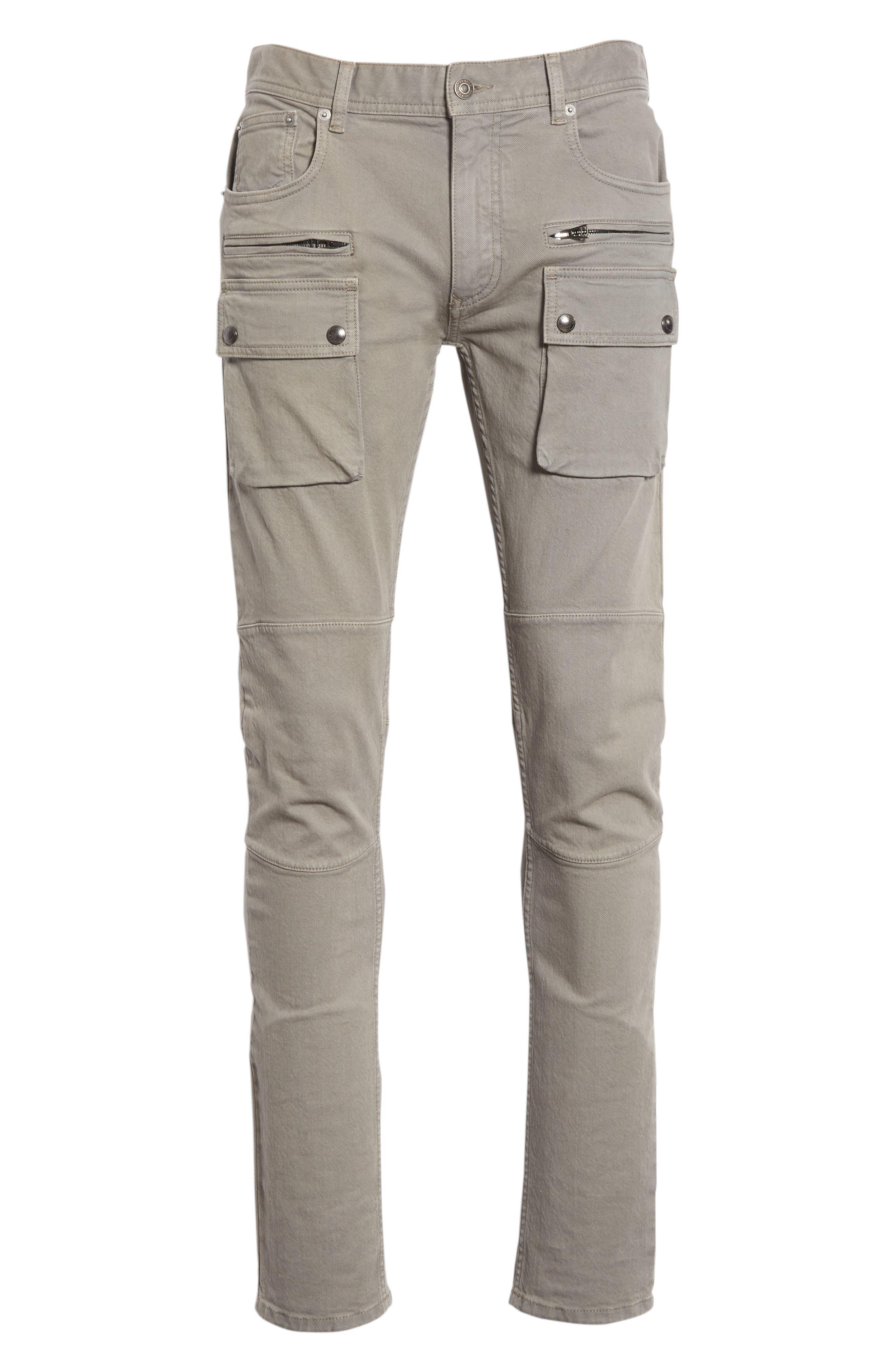 Polmont Cargo Denim Jeans,                             Alternate thumbnail 6, color,                             SMOKE GREY