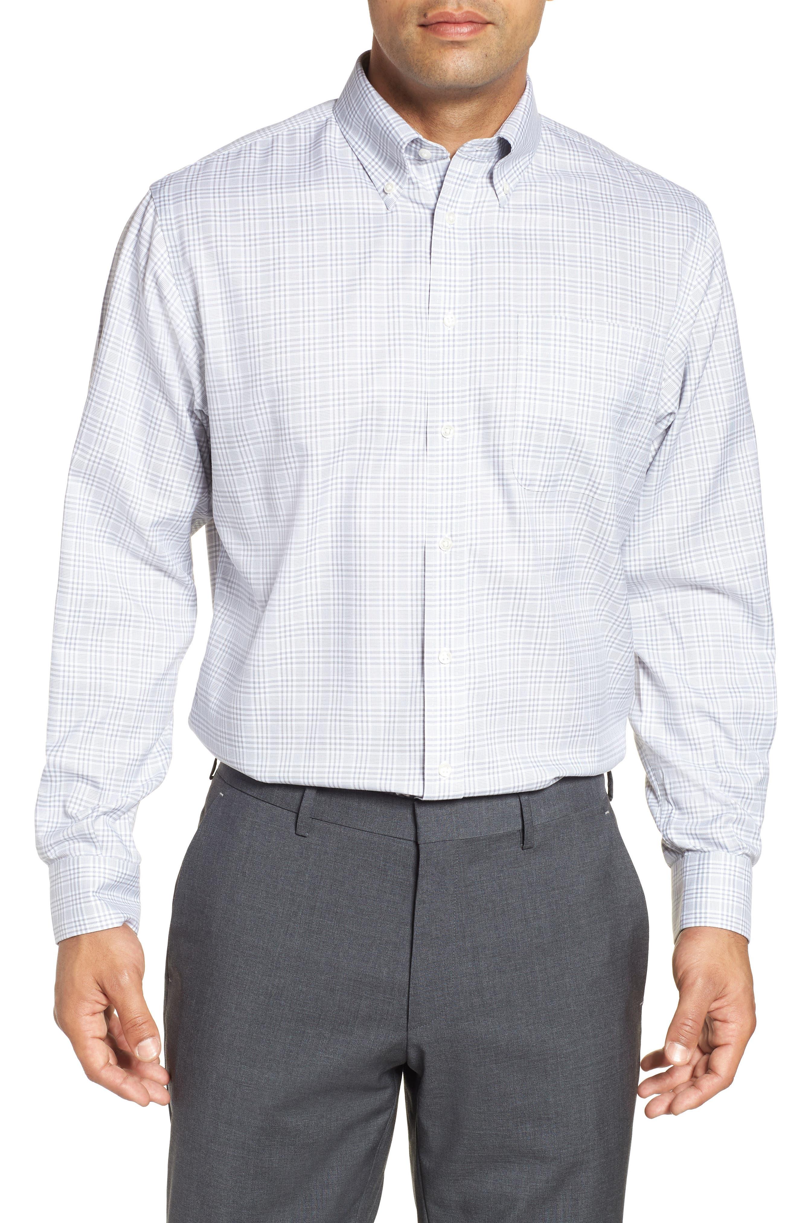Smartcare<sup>™</sup> Classic Fit Plaid Dress Shirt,                             Main thumbnail 1, color,                             050