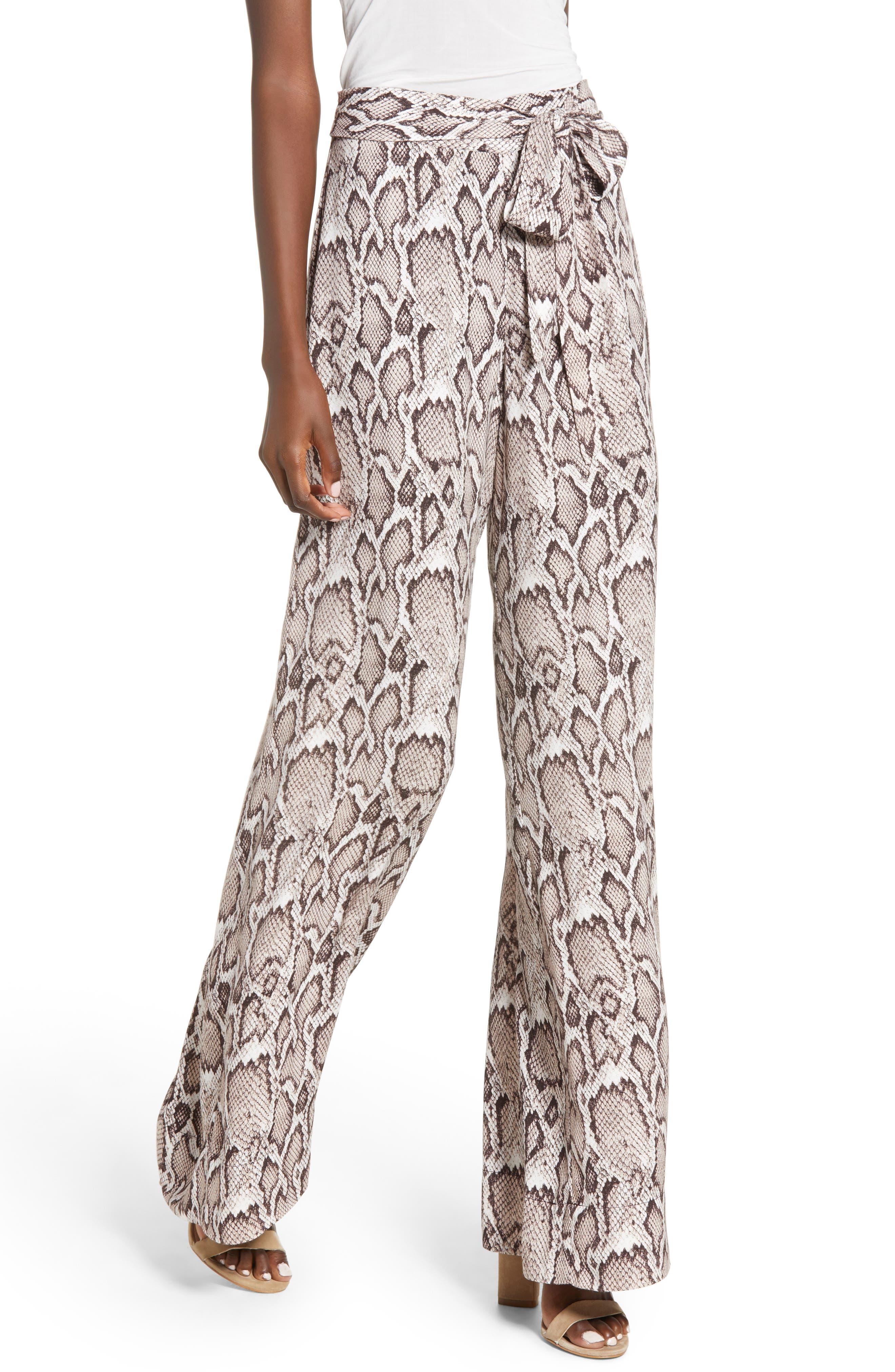 Caspian Wide Leg Pants,                         Main,                         color, SNAKESKIN