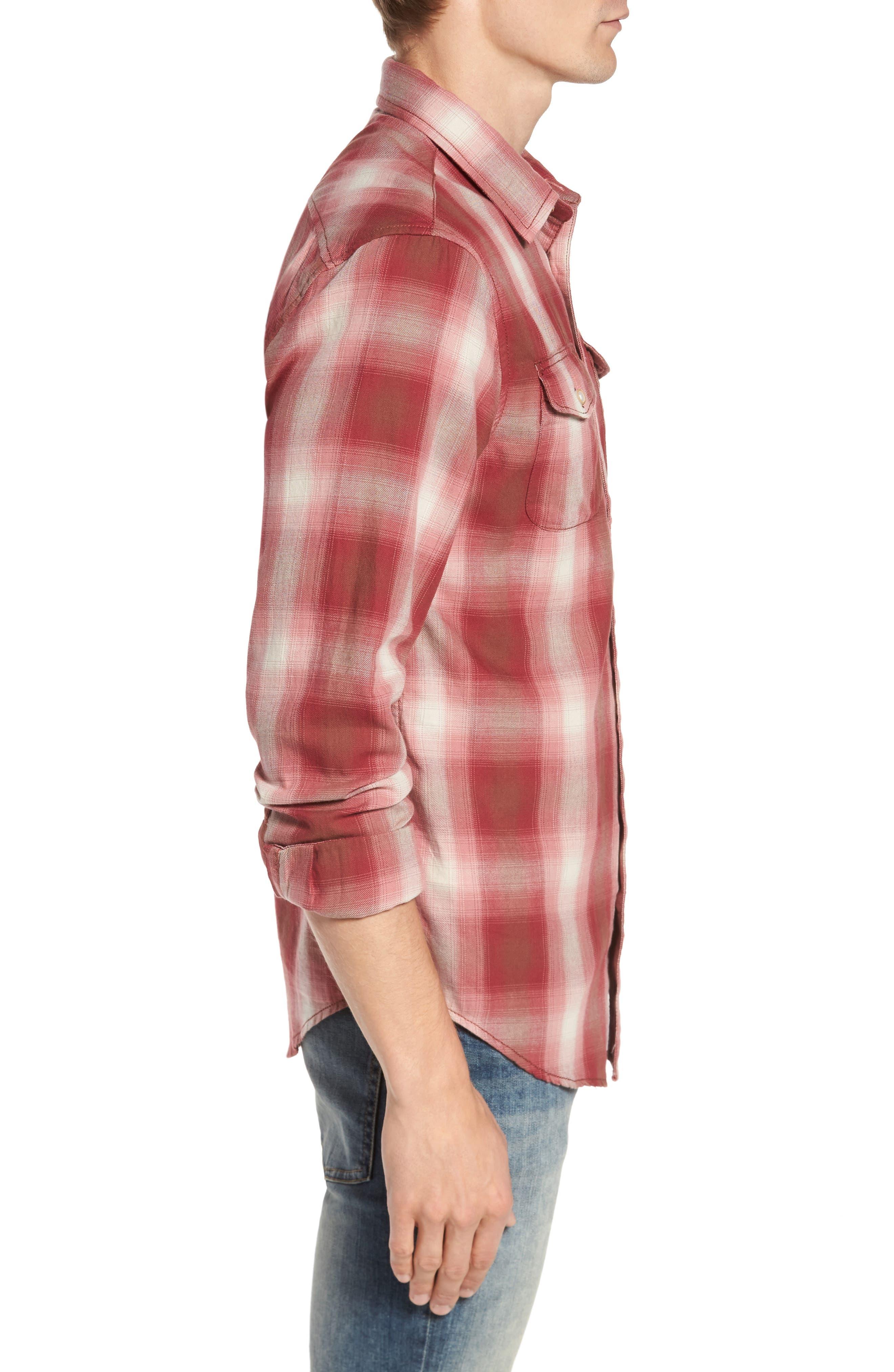 90s Plaid Flannel Shirt,                             Alternate thumbnail 3, color,                             643