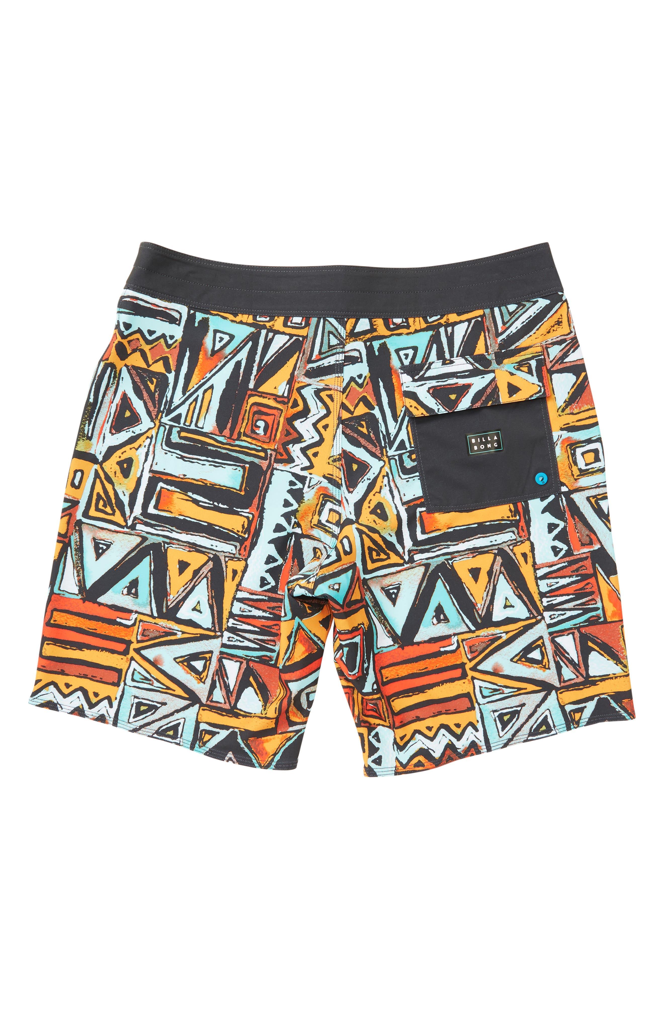 Sundays X Board Shorts,                             Alternate thumbnail 2, color,                             LAVA