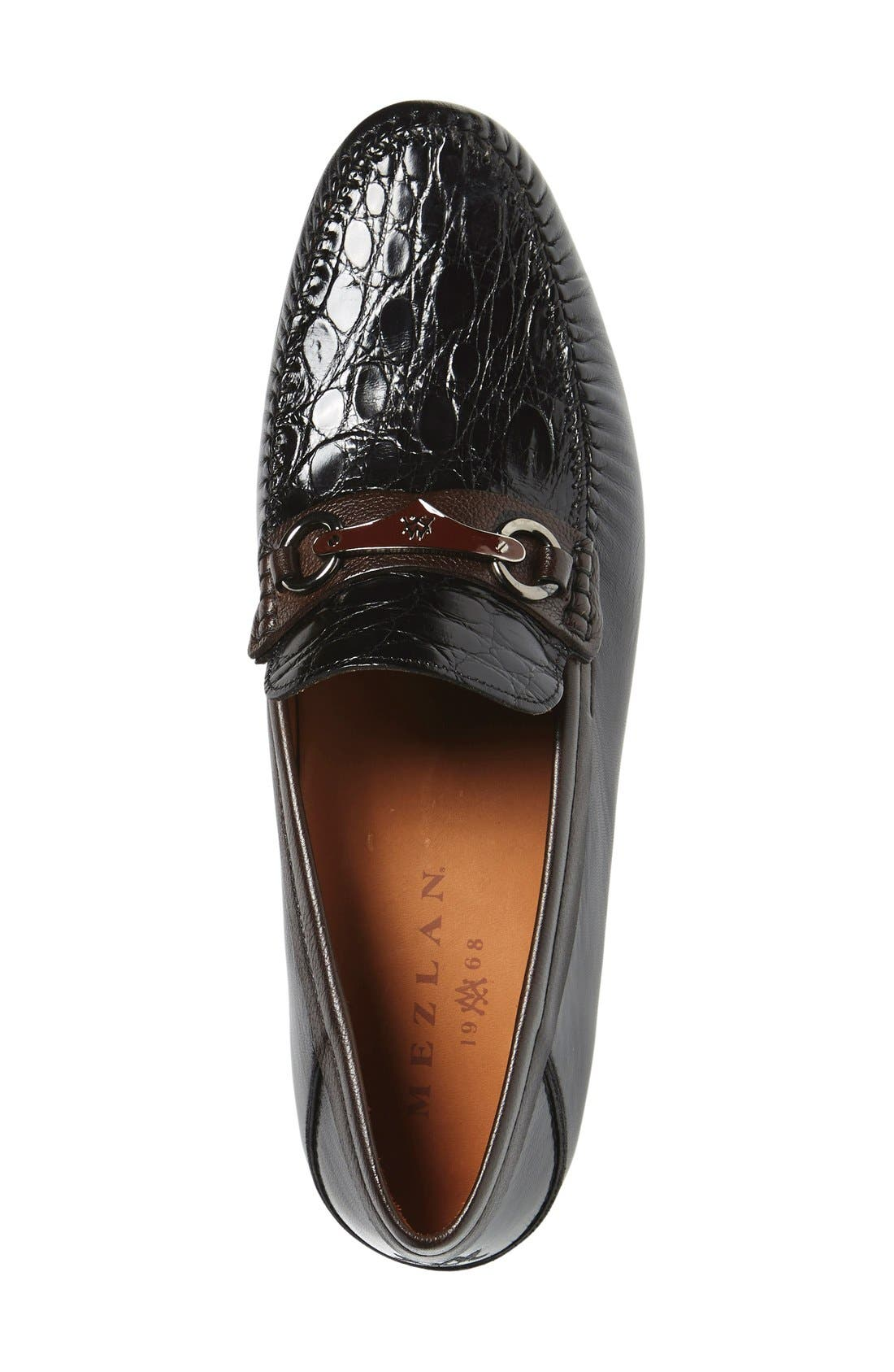 'Gaudi Venetian' Genuine Crocodile Bit Loafer,                             Alternate thumbnail 2, color,                             011