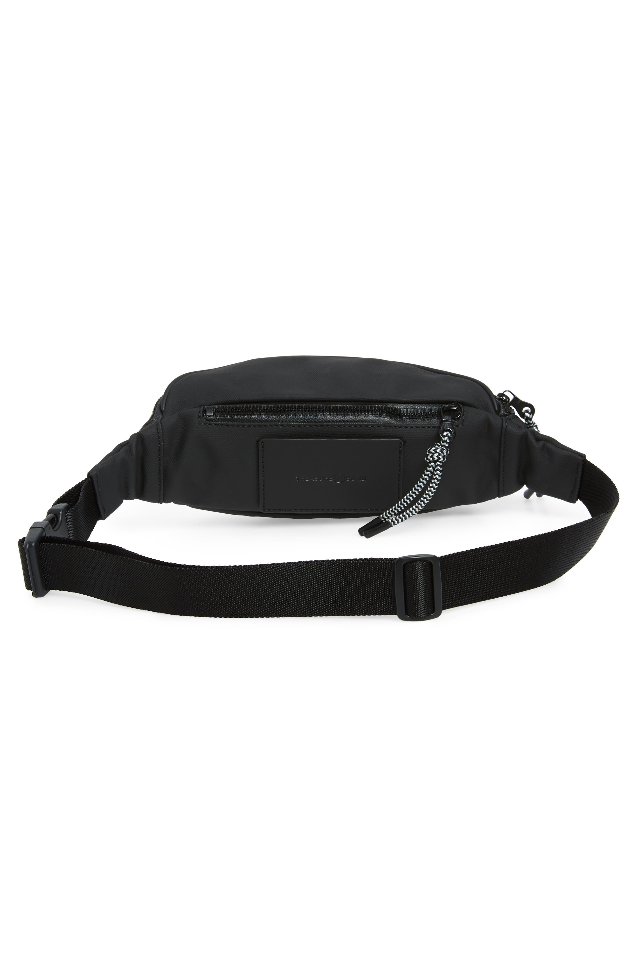 Mason Water Resistant Belt Bag,                             Alternate thumbnail 4, color,                             BLACK/ BLACK