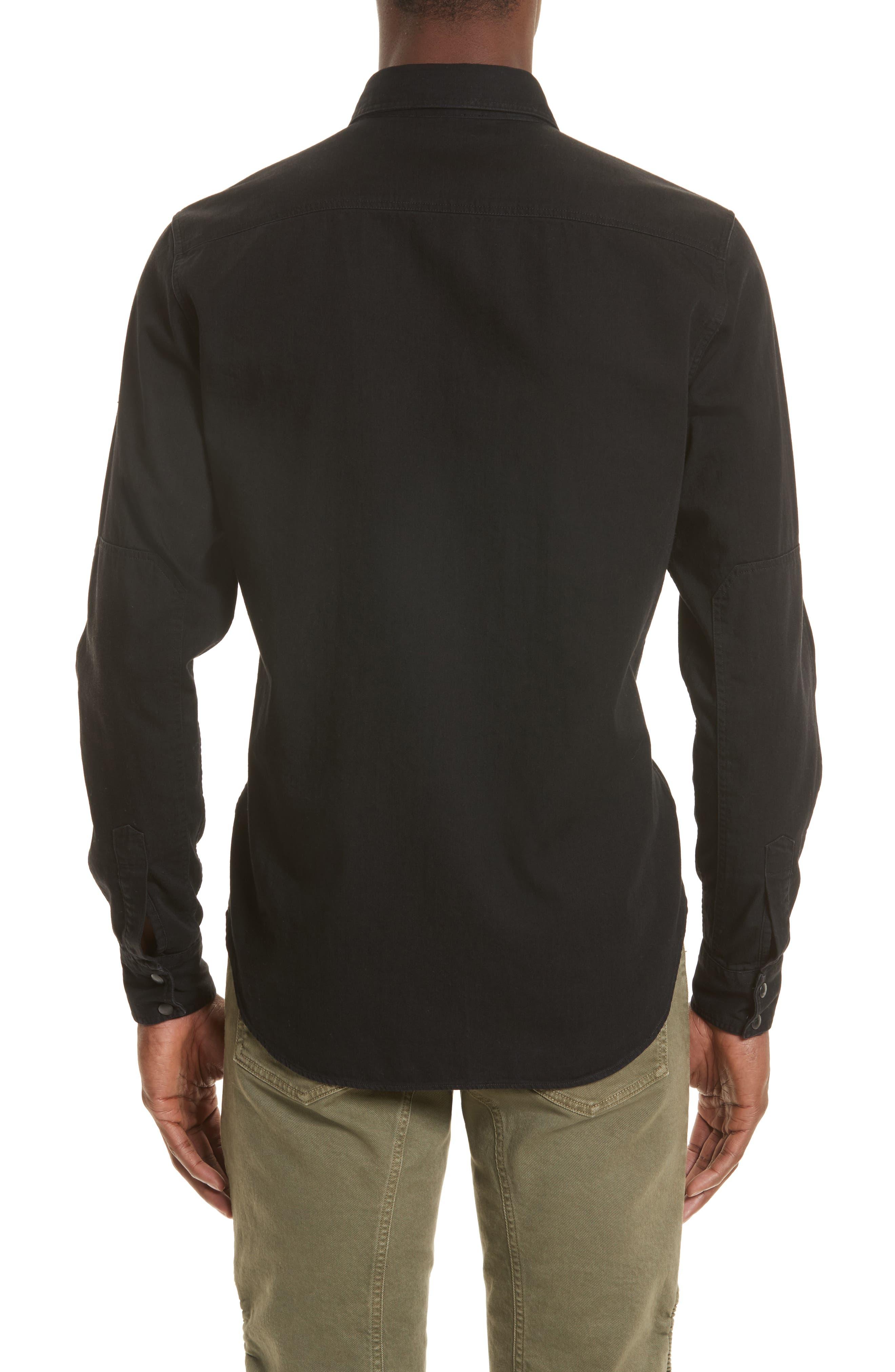 Somerford Extra Trim Fit Denim Shirt,                             Alternate thumbnail 3, color,                             001
