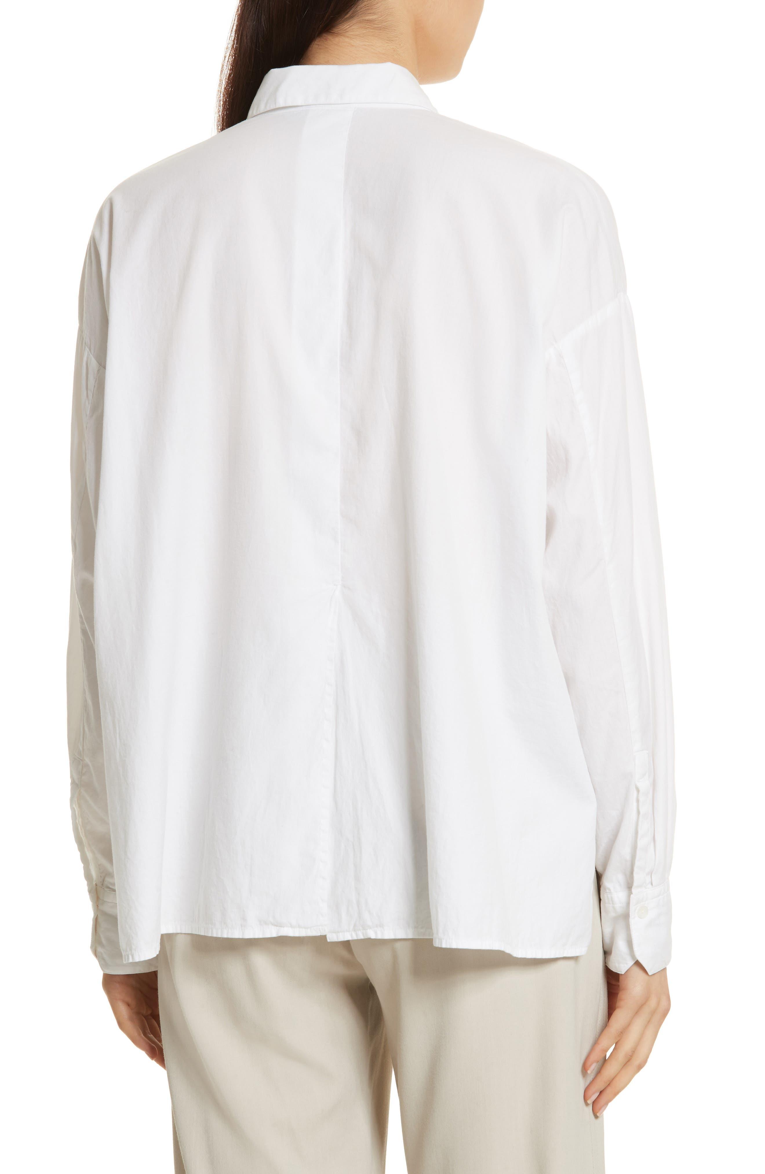 Single Pocket Cotton & Silk Shirt,                             Alternate thumbnail 2, color,                             100