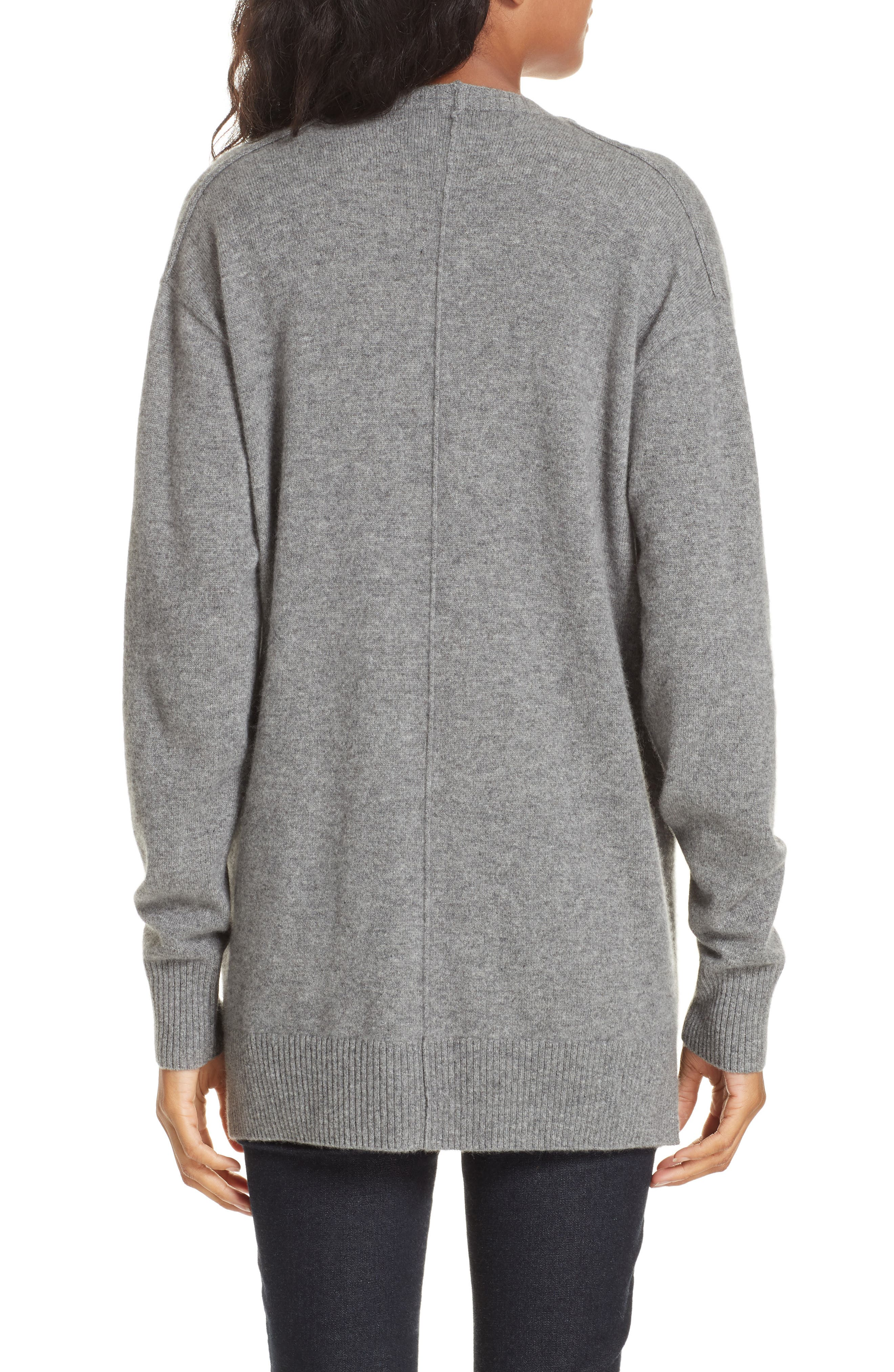 Bray Cashmere Cardigan,                             Alternate thumbnail 2, color,                             HEATHER GREY