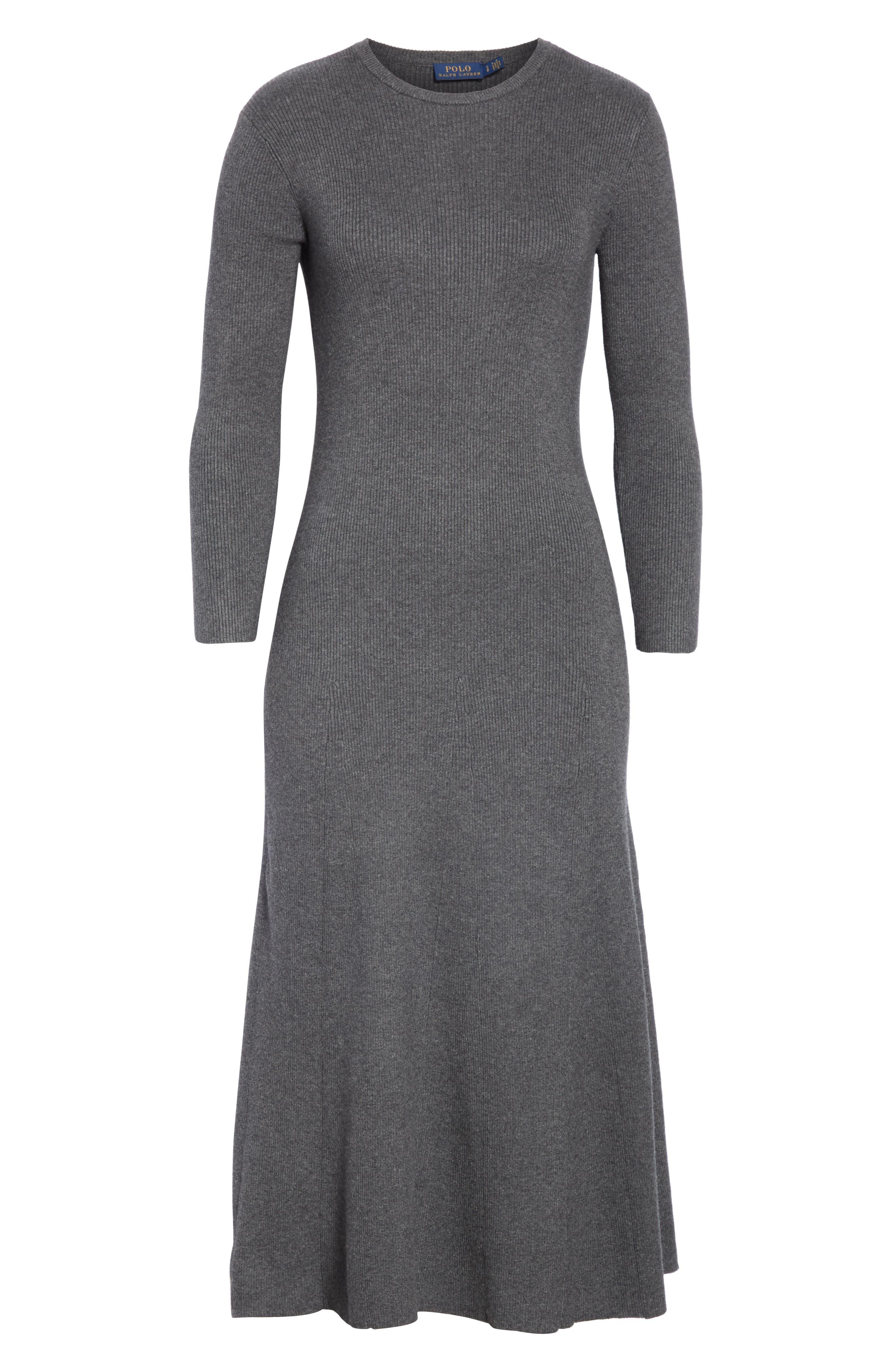 Midi Sweater Dress,                             Alternate thumbnail 6, color,                             020