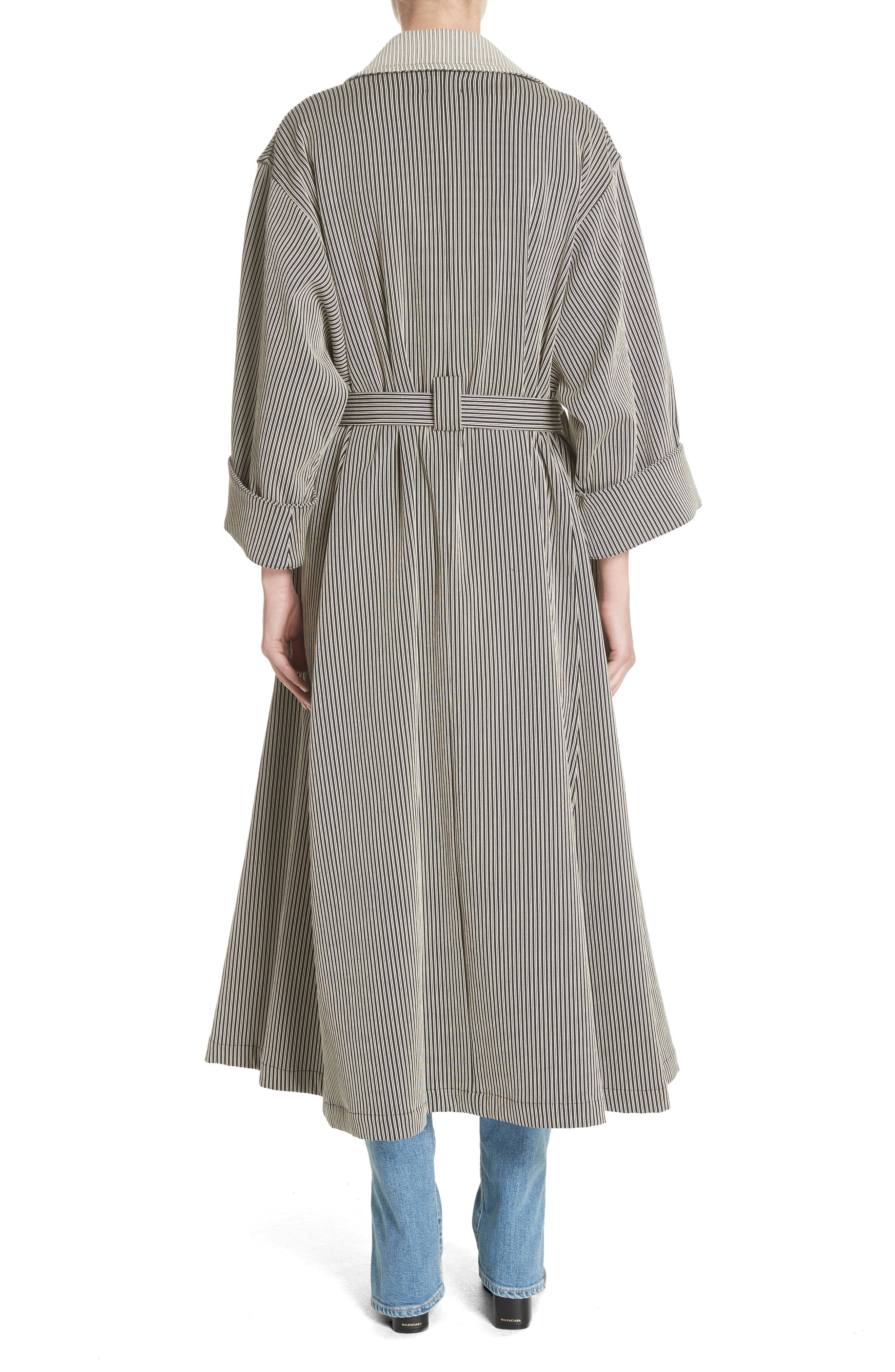 Casco Stretch Pinstripe Trench Coat,                             Alternate thumbnail 2, color,