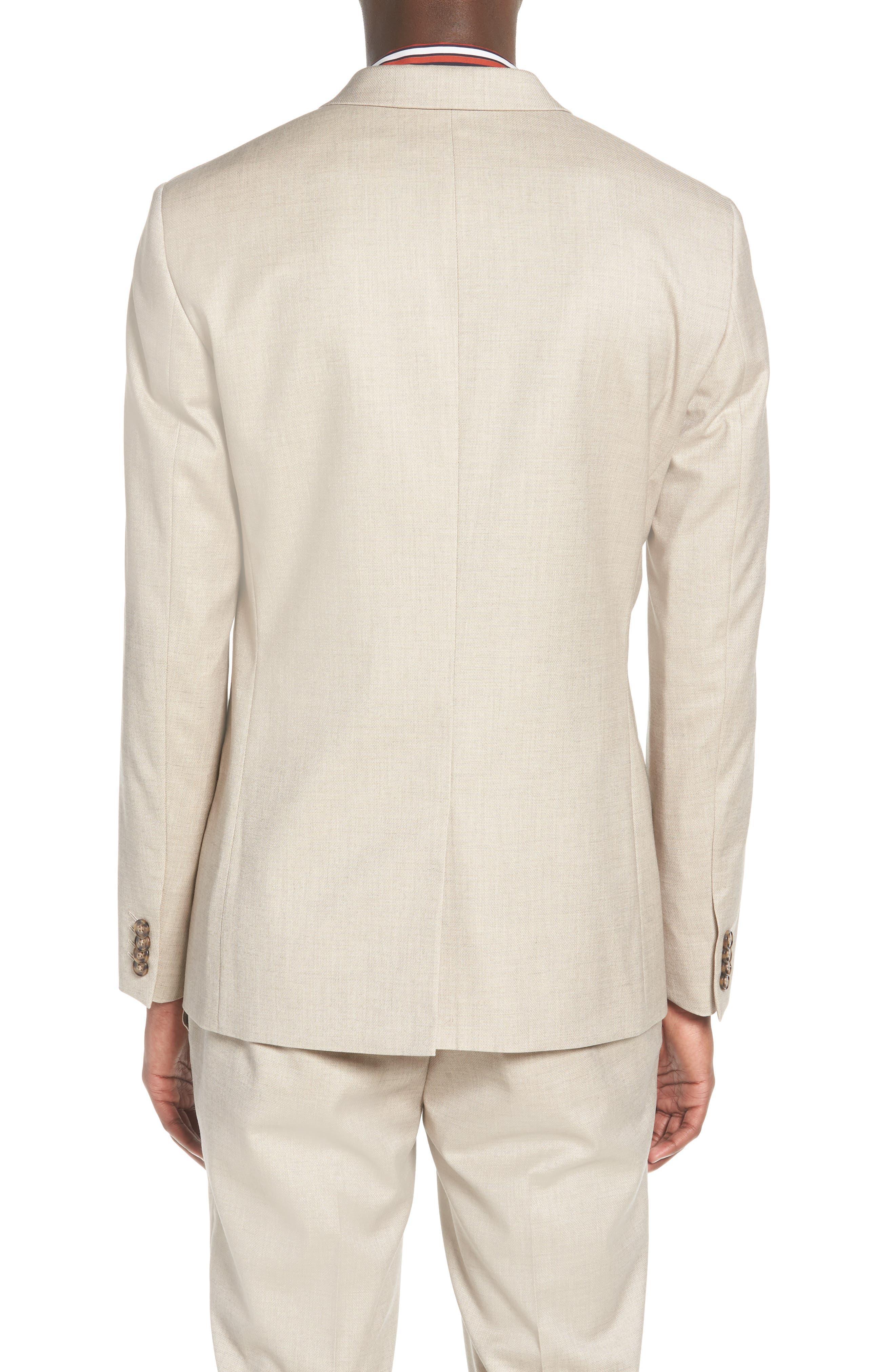 Skinny Fit Check Suit Jacket,                             Alternate thumbnail 2, color,                             250