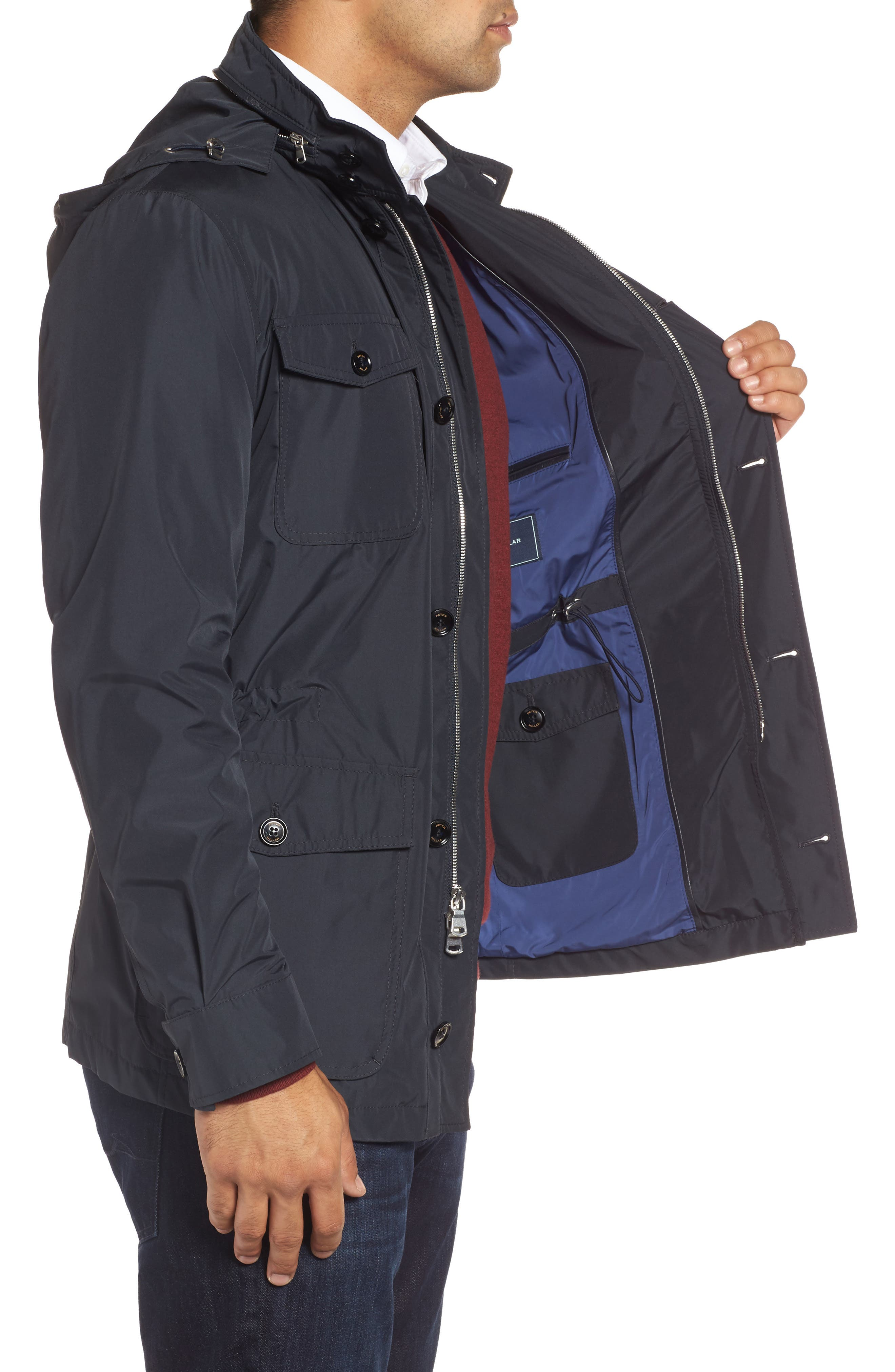 Peter Millar All Weather Discovery Jacket,                             Alternate thumbnail 6, color,