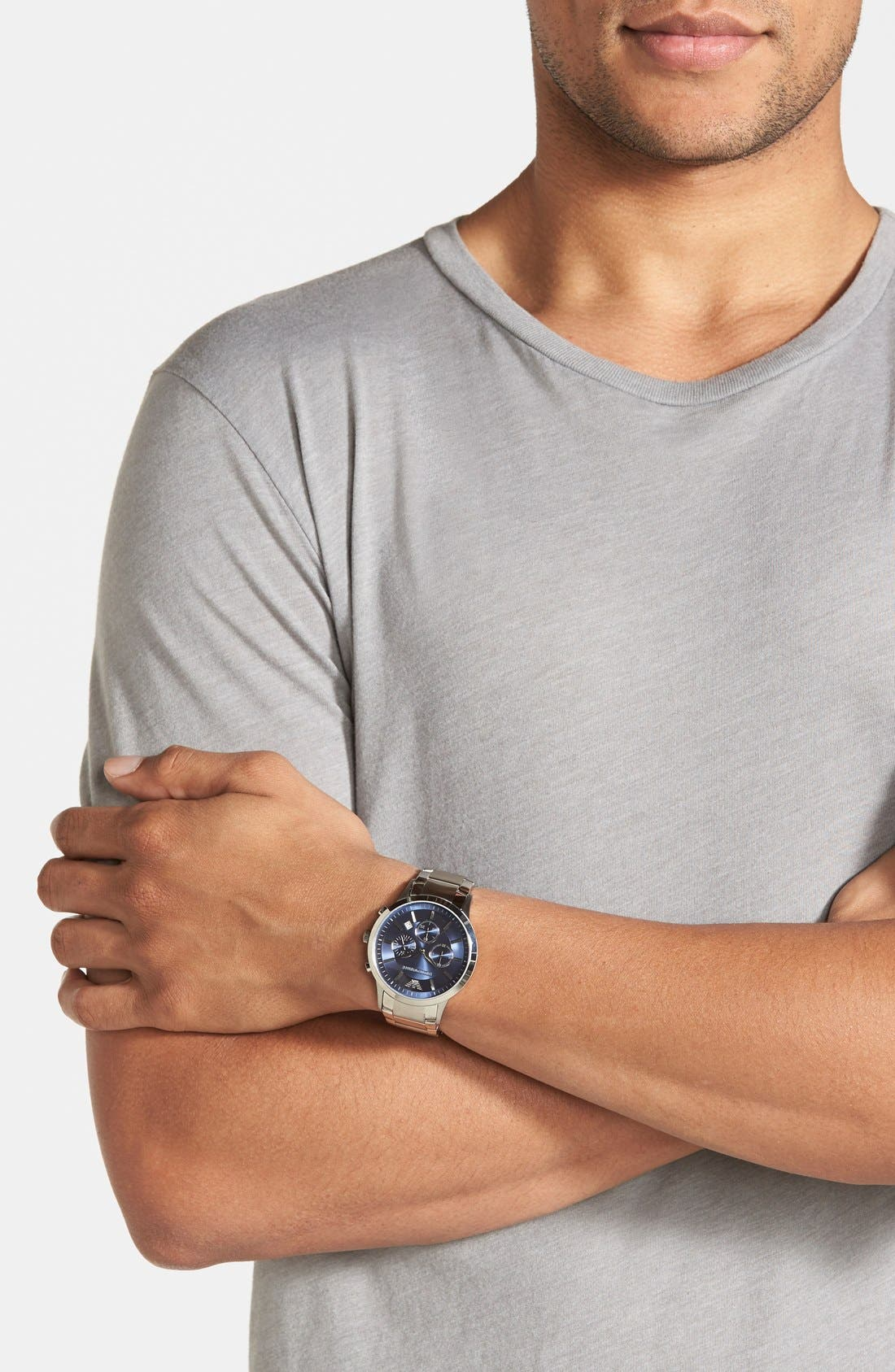 Stainless Steel Bracelet Watch, 43mm,                             Alternate thumbnail 6, color,
