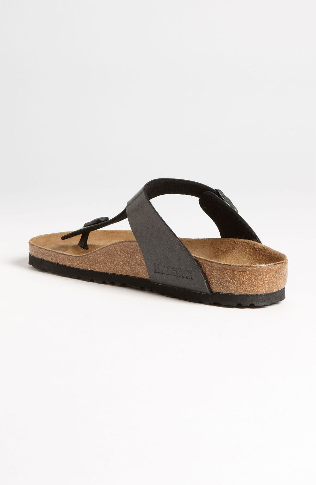 BIRKENSTOCK,                             Gizeh Birko-Flor<sup>™</sup> Thong,                             Alternate thumbnail 9, color,                             LICORICE