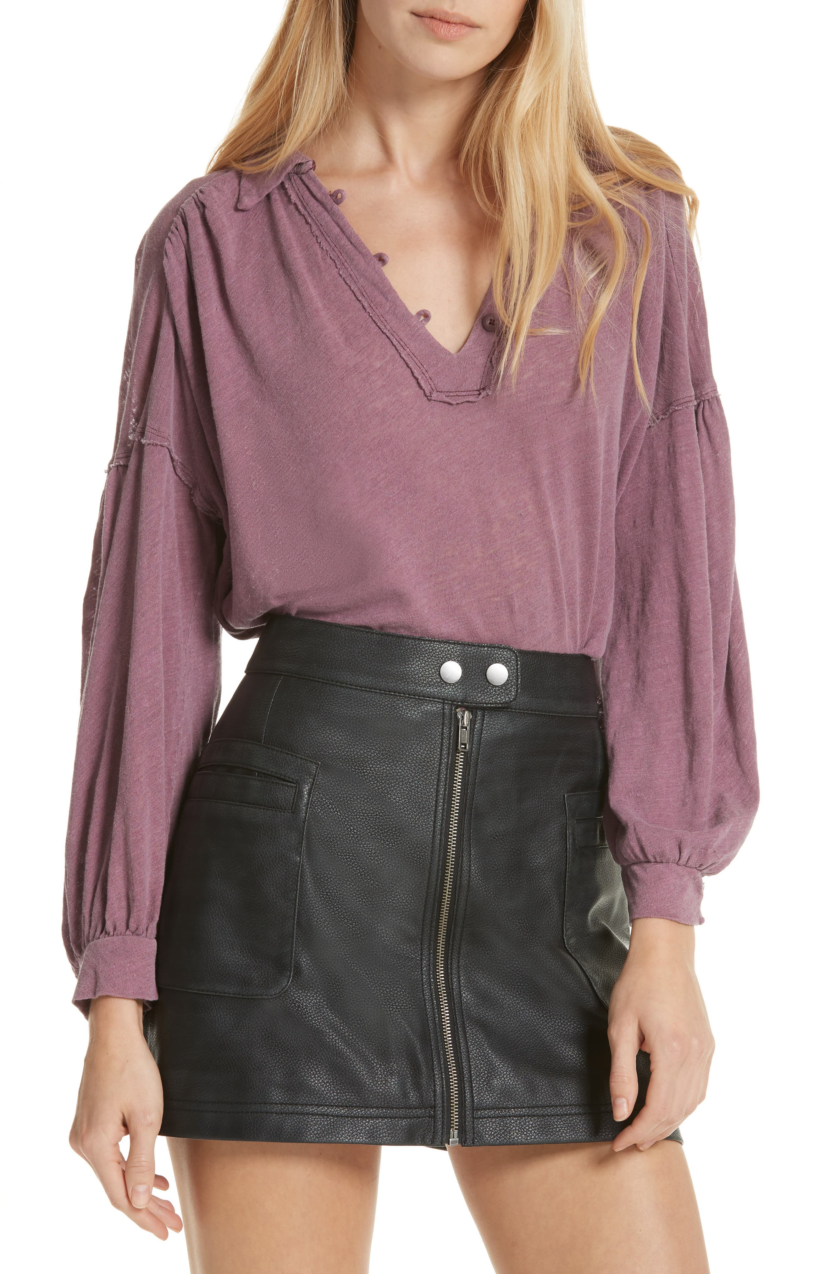 Rush Hour Top,                         Main,                         color, WINE