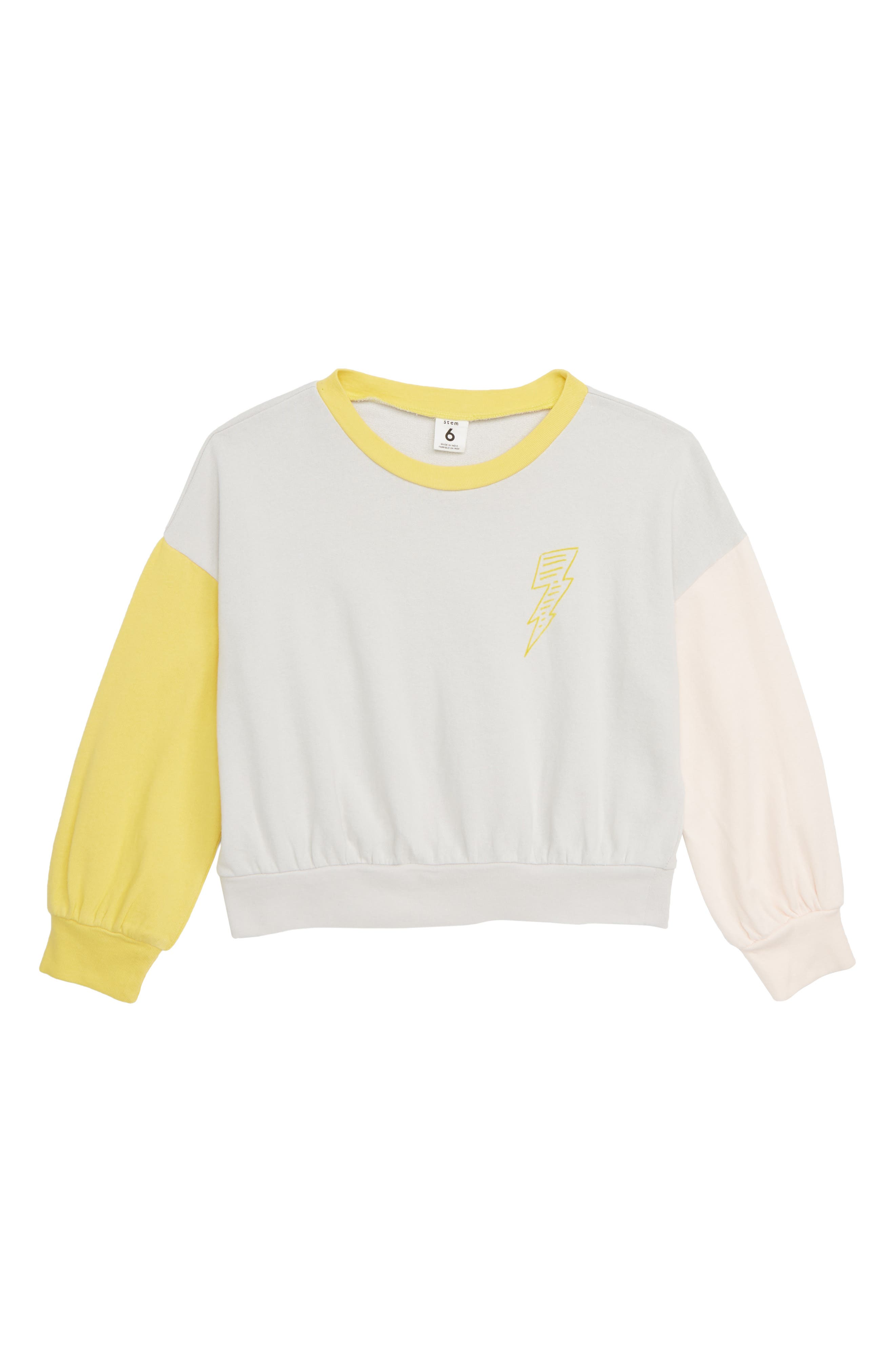 STEM,                             Color Pop Sweatshirt,                             Main thumbnail 1, color,                             050