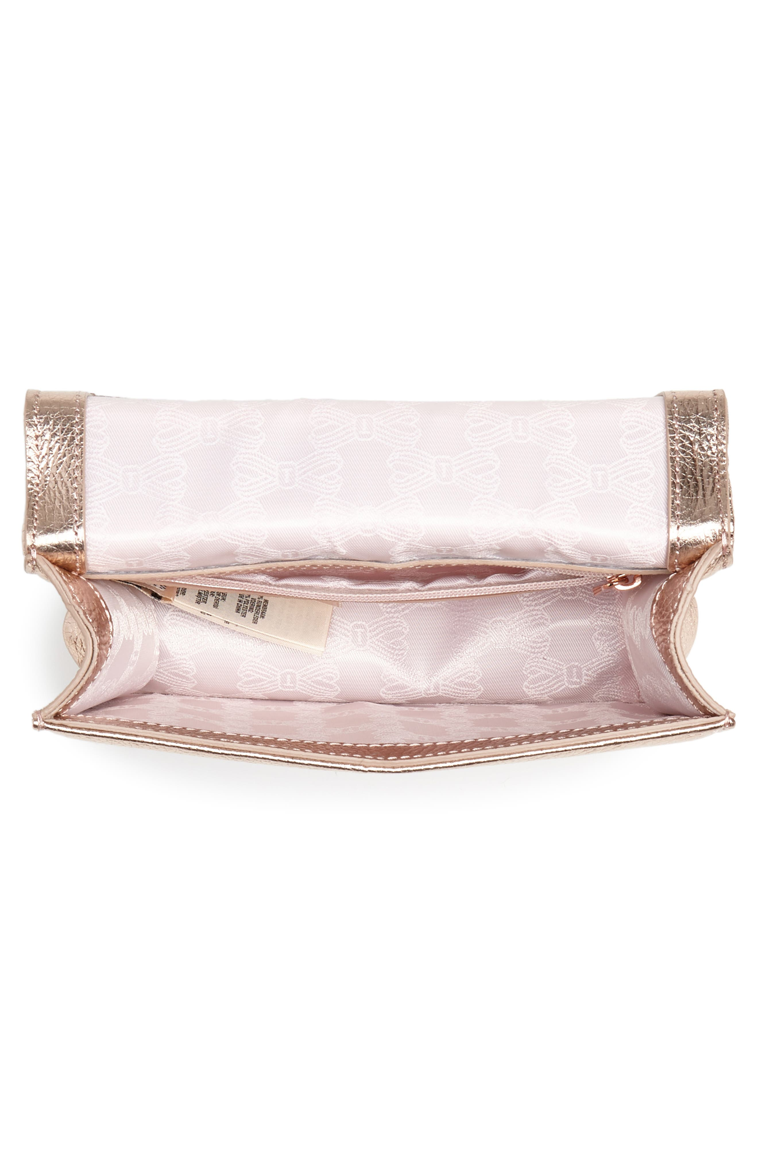 Micro Leather Crossbody Bag,                             Alternate thumbnail 4, color,                             712