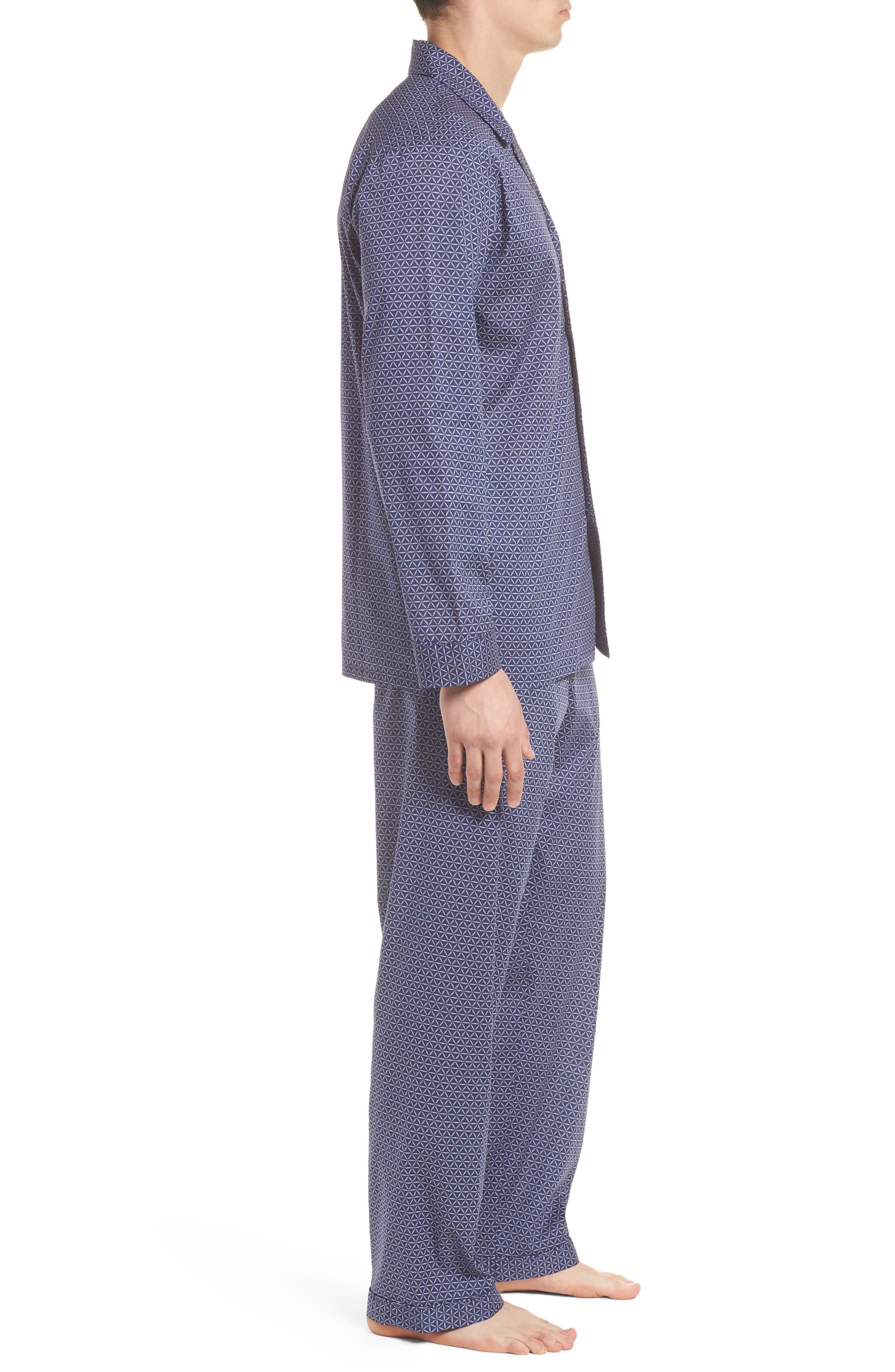 Starling Pajama Set,                             Alternate thumbnail 3, color,                             NAVY