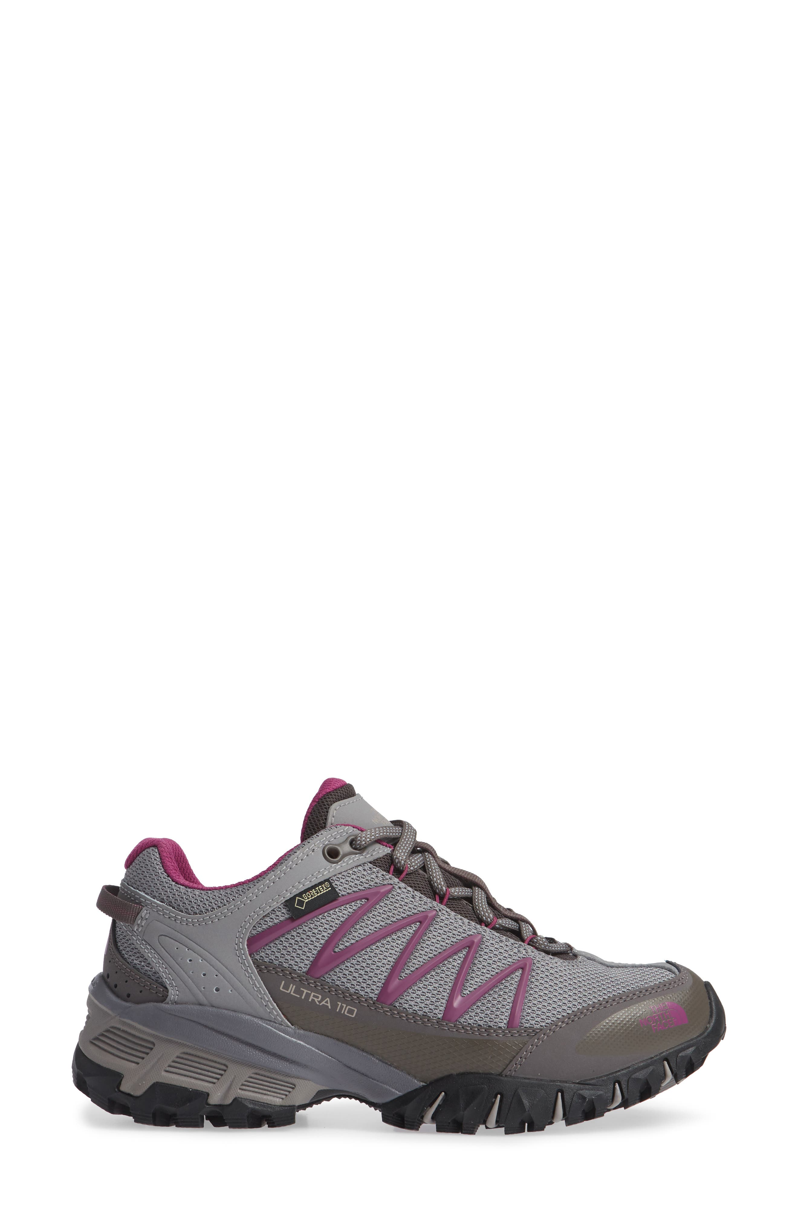Ultra 110 GTX<sup>®</sup> Hiking Shoe,                             Alternate thumbnail 3, color,                             Q-SILVER GREY/ ASTER PURPLE