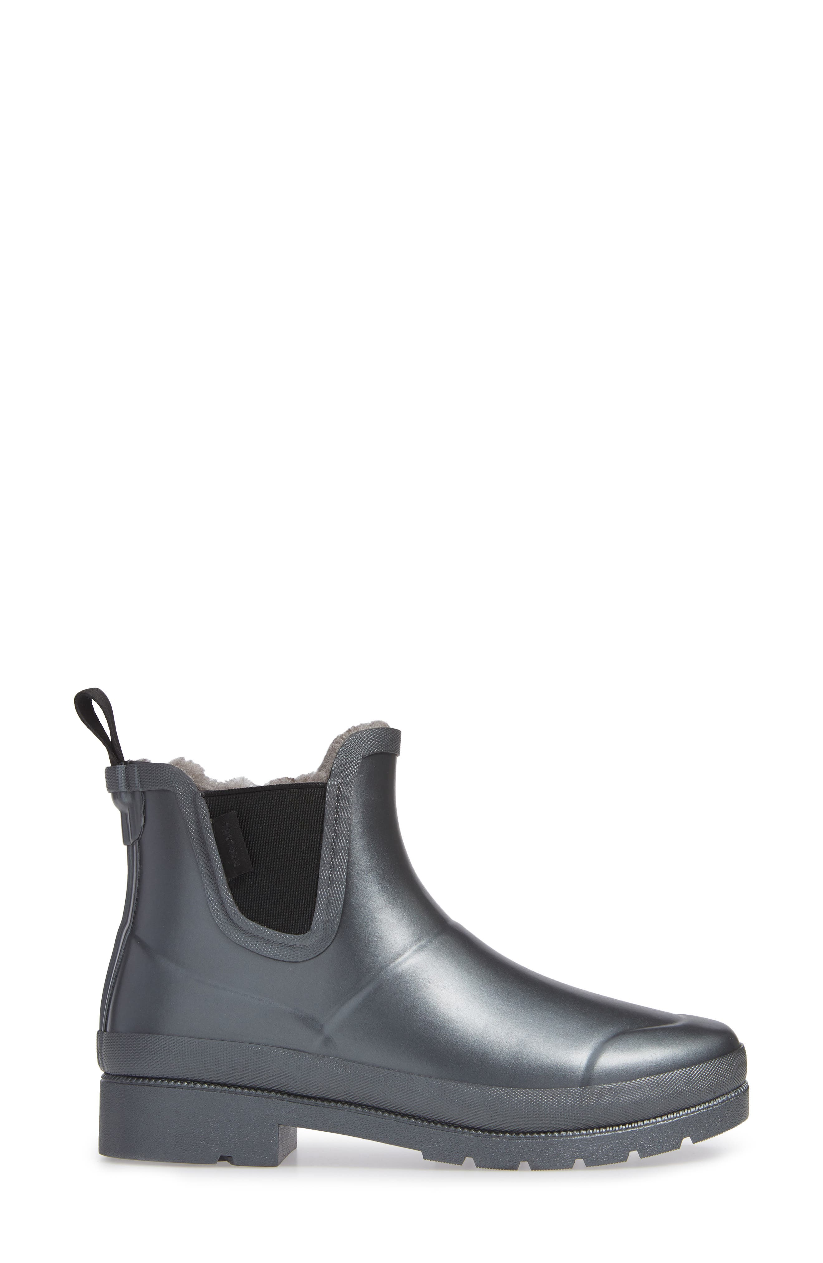 Chelsea Rain Boot,                             Alternate thumbnail 3, color,                             PEWTER