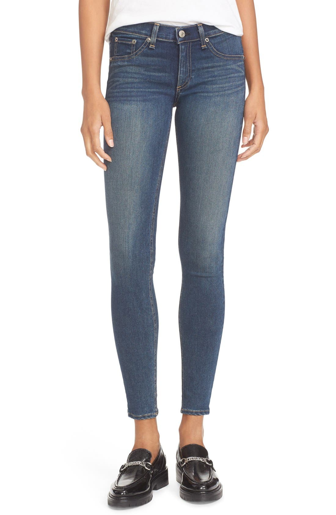 Skinny Jeans,                             Alternate thumbnail 6, color,                             401