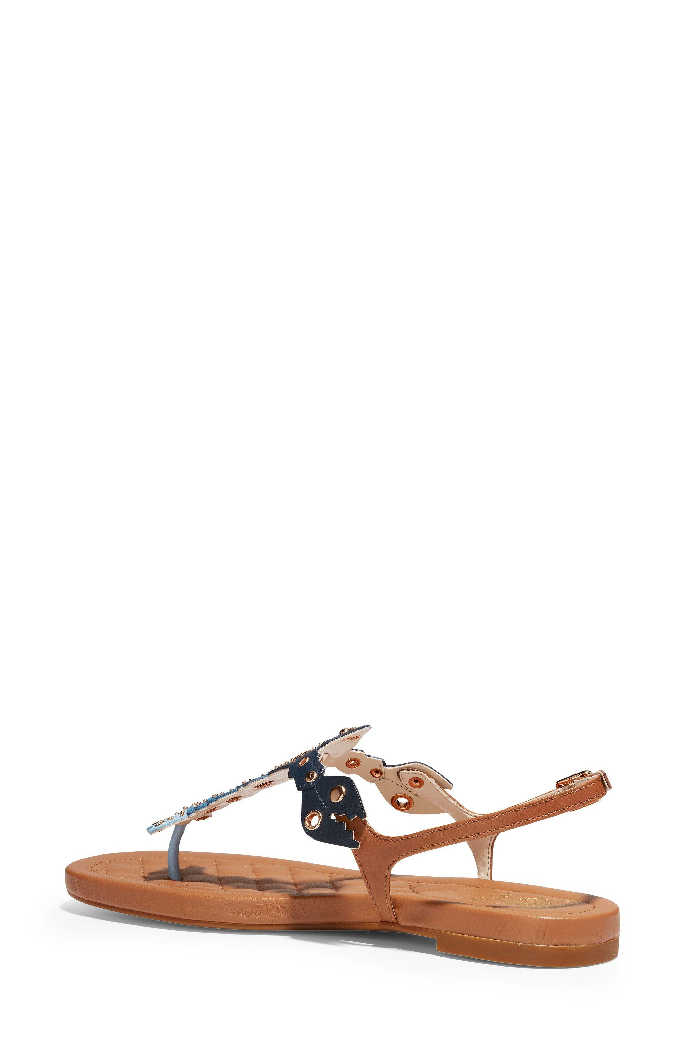 Pinch Lobster Sandal,                             Alternate thumbnail 2, color,                             NAVY MULTI LEATHER