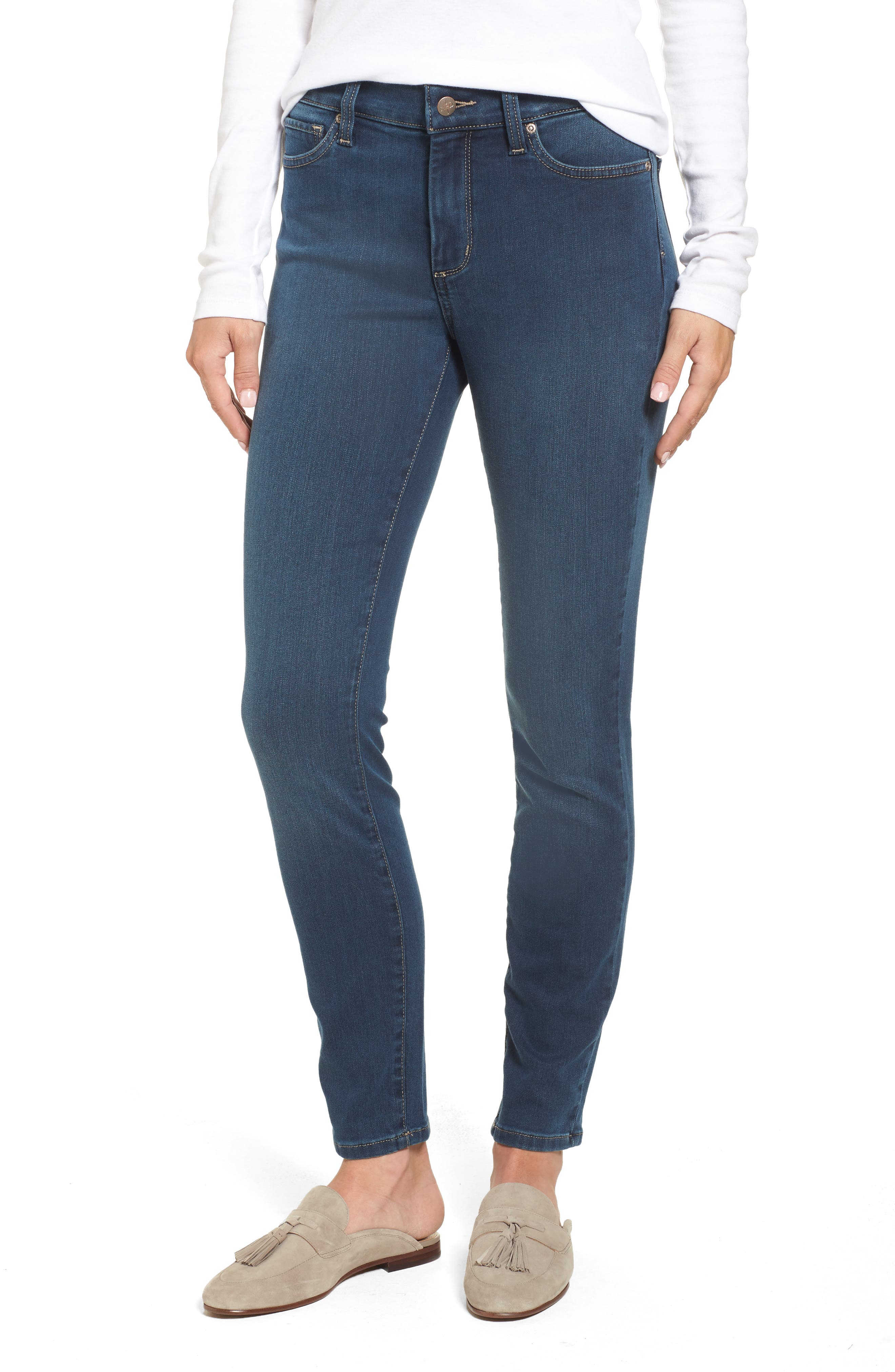 Ami Stretch Super Skinny Jeans,                             Main thumbnail 1, color,                             404