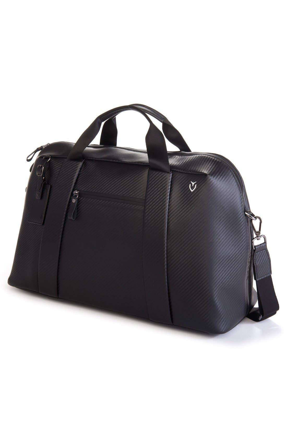 'Signature' Large Duffel Bag,                             Alternate thumbnail 3, color,                             CARBON BLACK