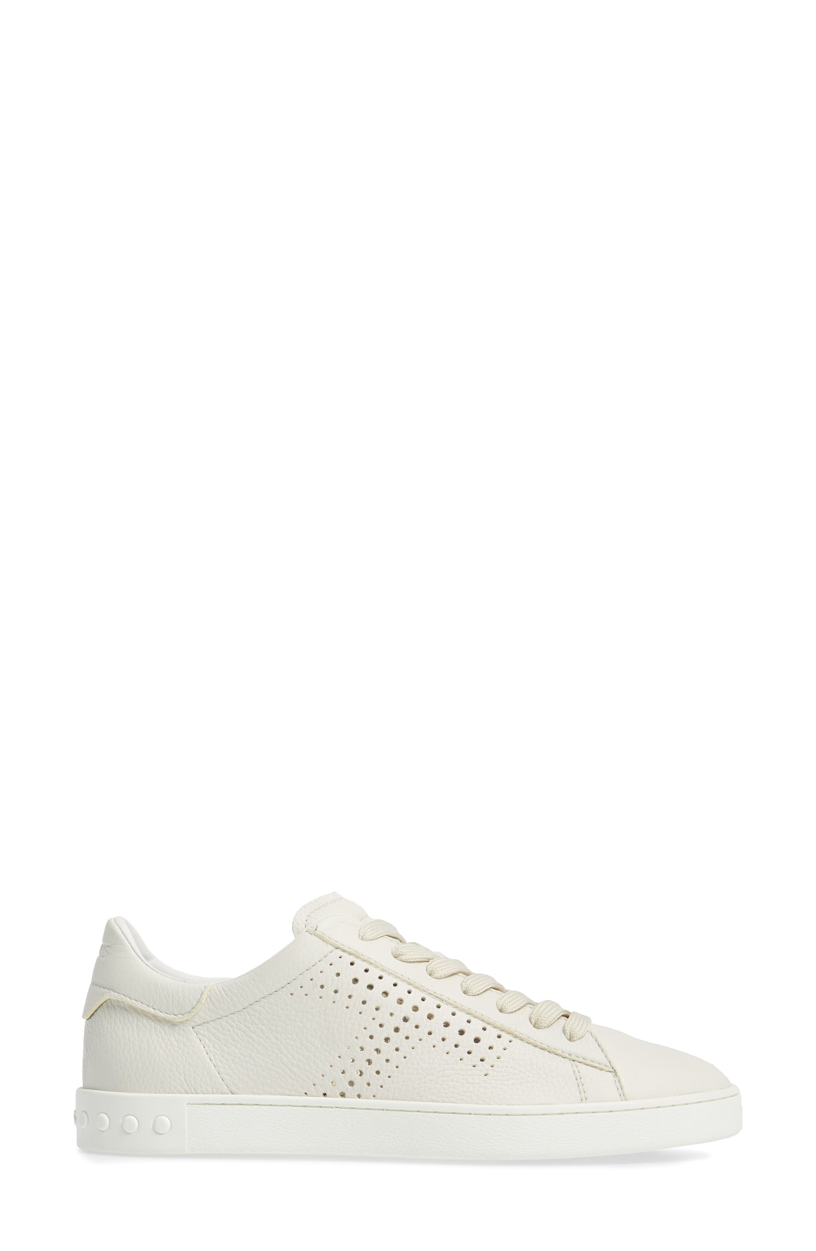 Tods Perforated T Sneaker,                             Alternate thumbnail 3, color,                             100