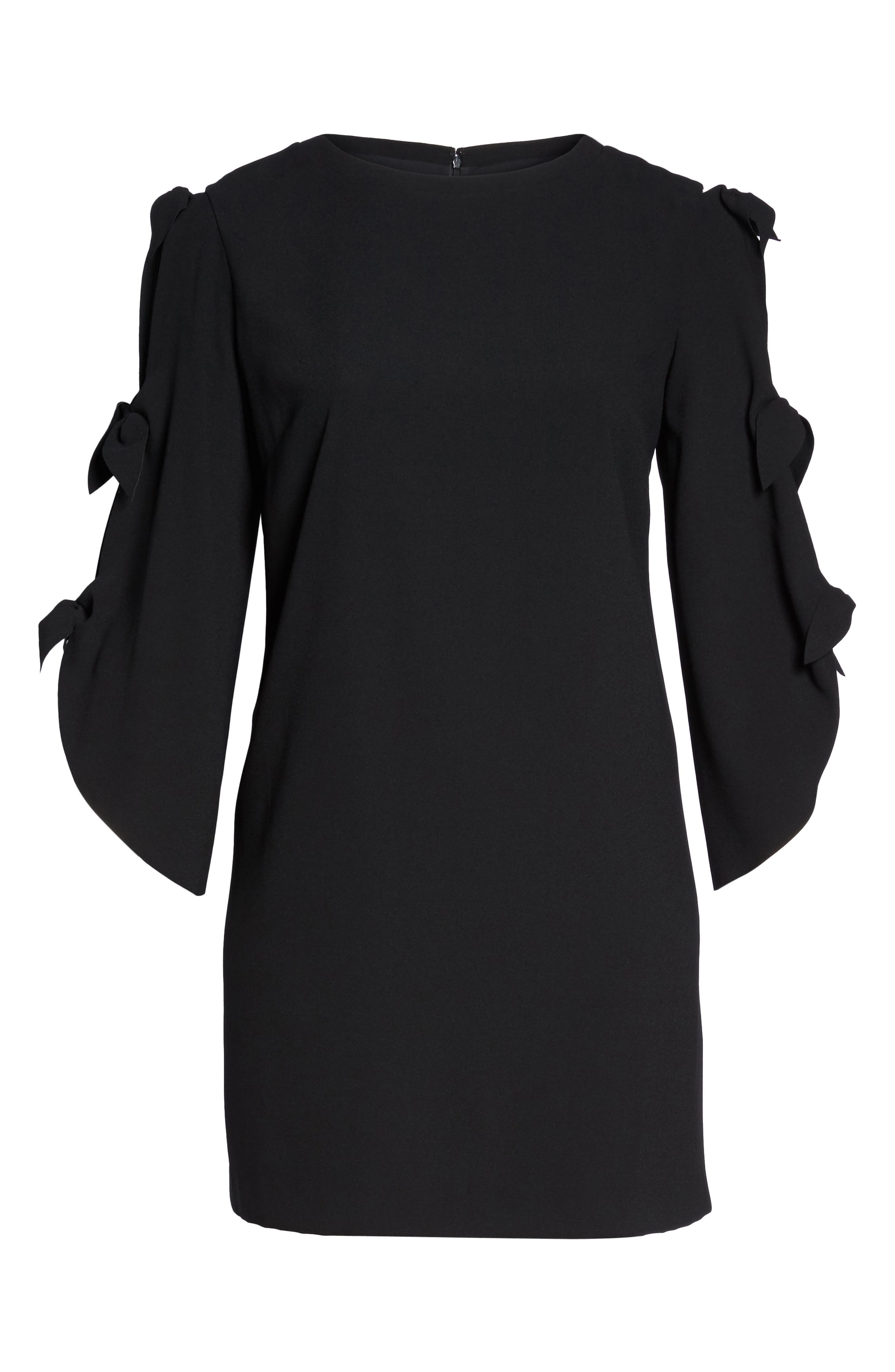 Split Tie Sleeve Shift Dress,                             Alternate thumbnail 6, color,                             001