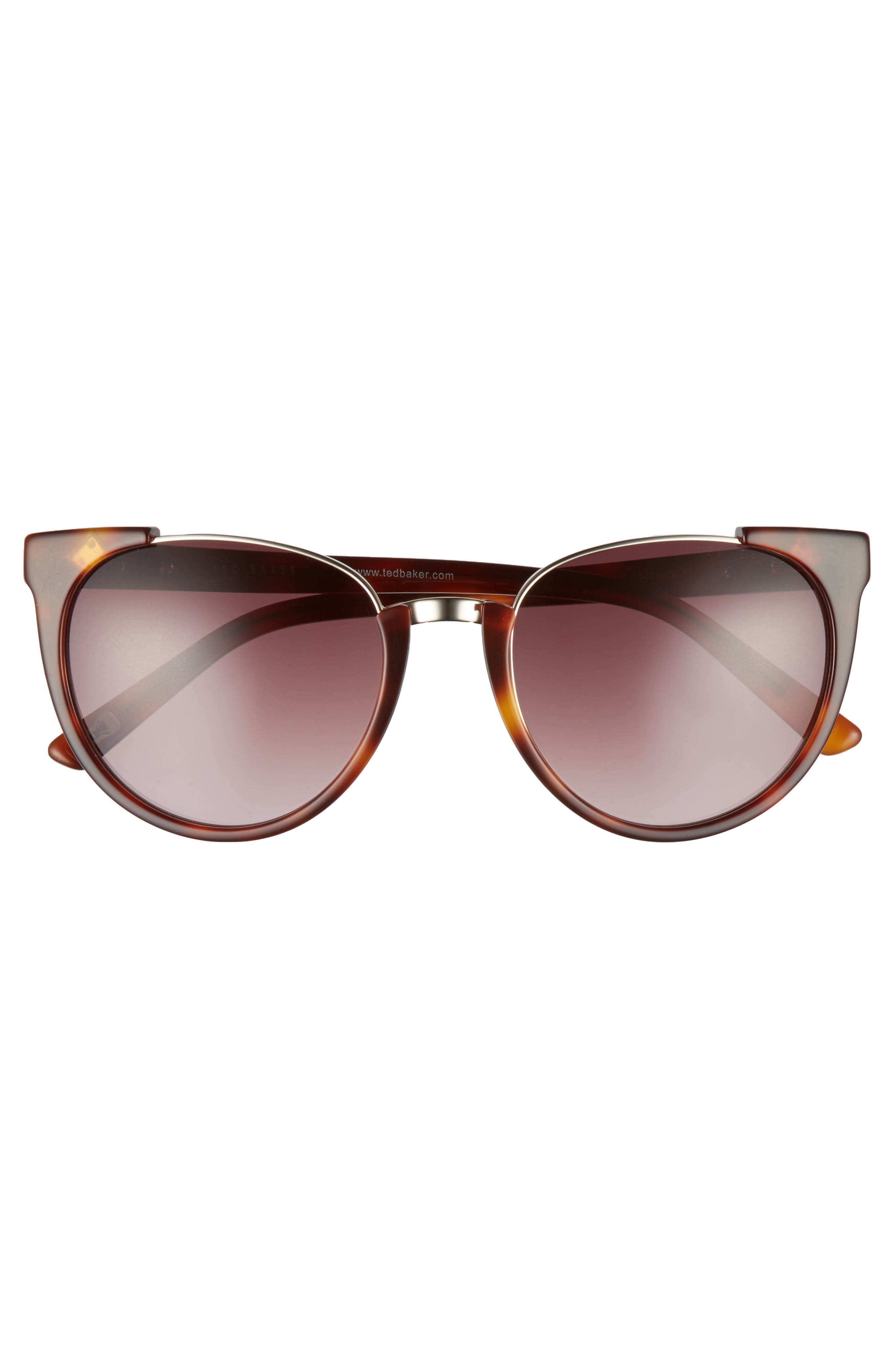 53mm Modified Oval Sunglasses,                             Alternate thumbnail 3, color,                             TORTOISE