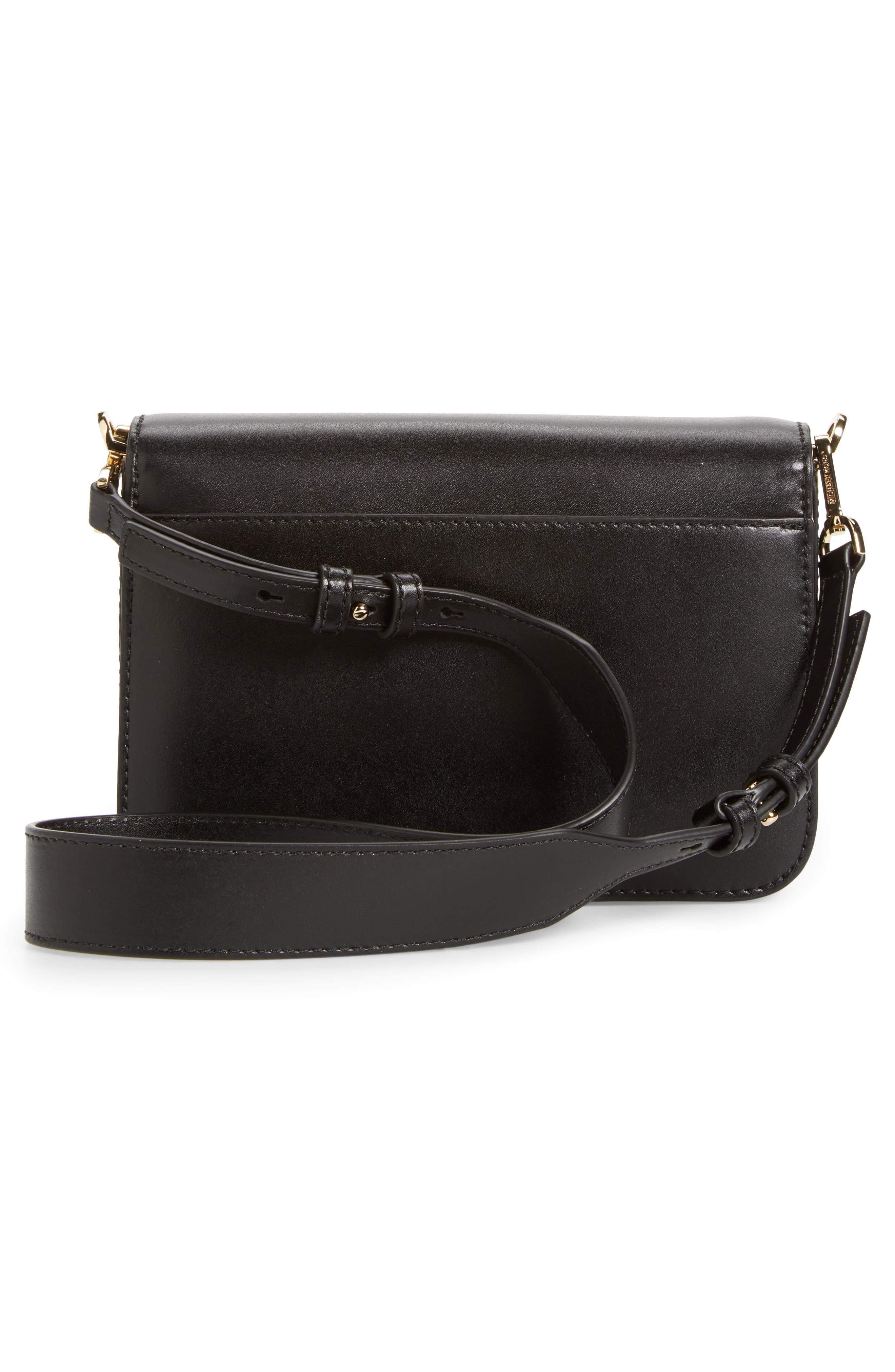Large Sloan Editor Leather Shoulder Bag,                             Alternate thumbnail 3, color,                             BLACK