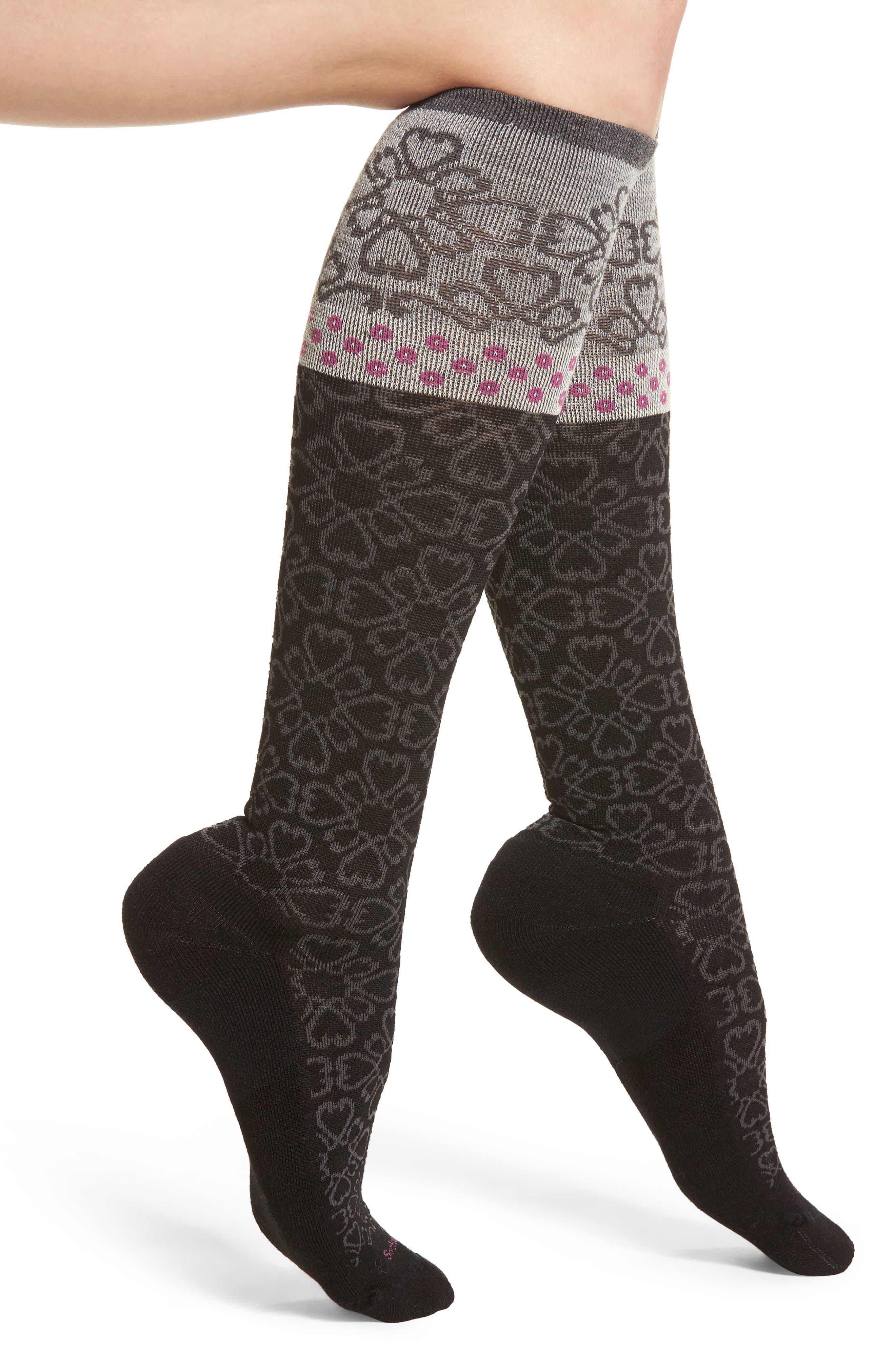 Botanical Compression Socks,                         Main,                         color, 001