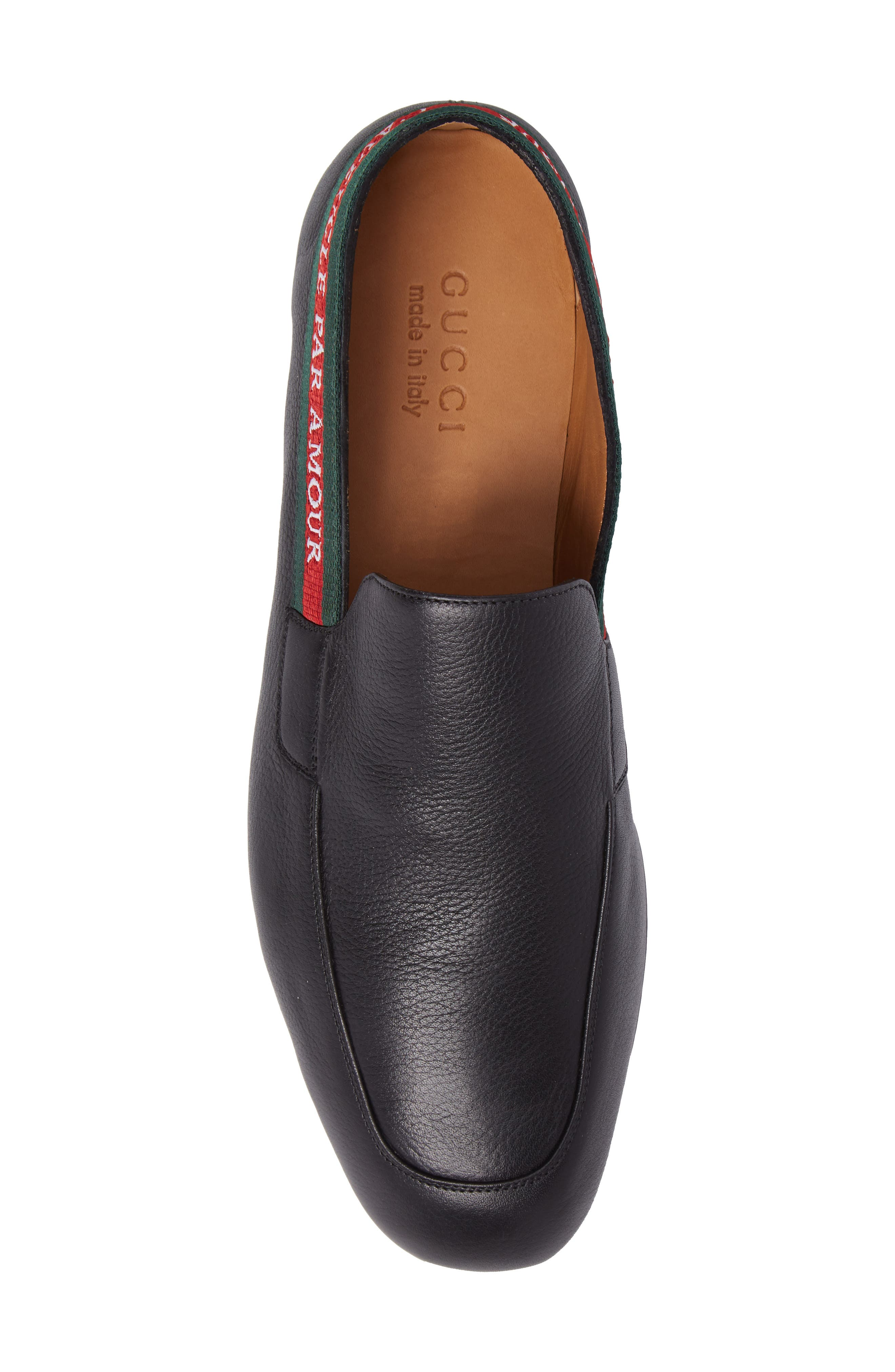 Web Detail Leather Loafer,                             Alternate thumbnail 5, color,                             013