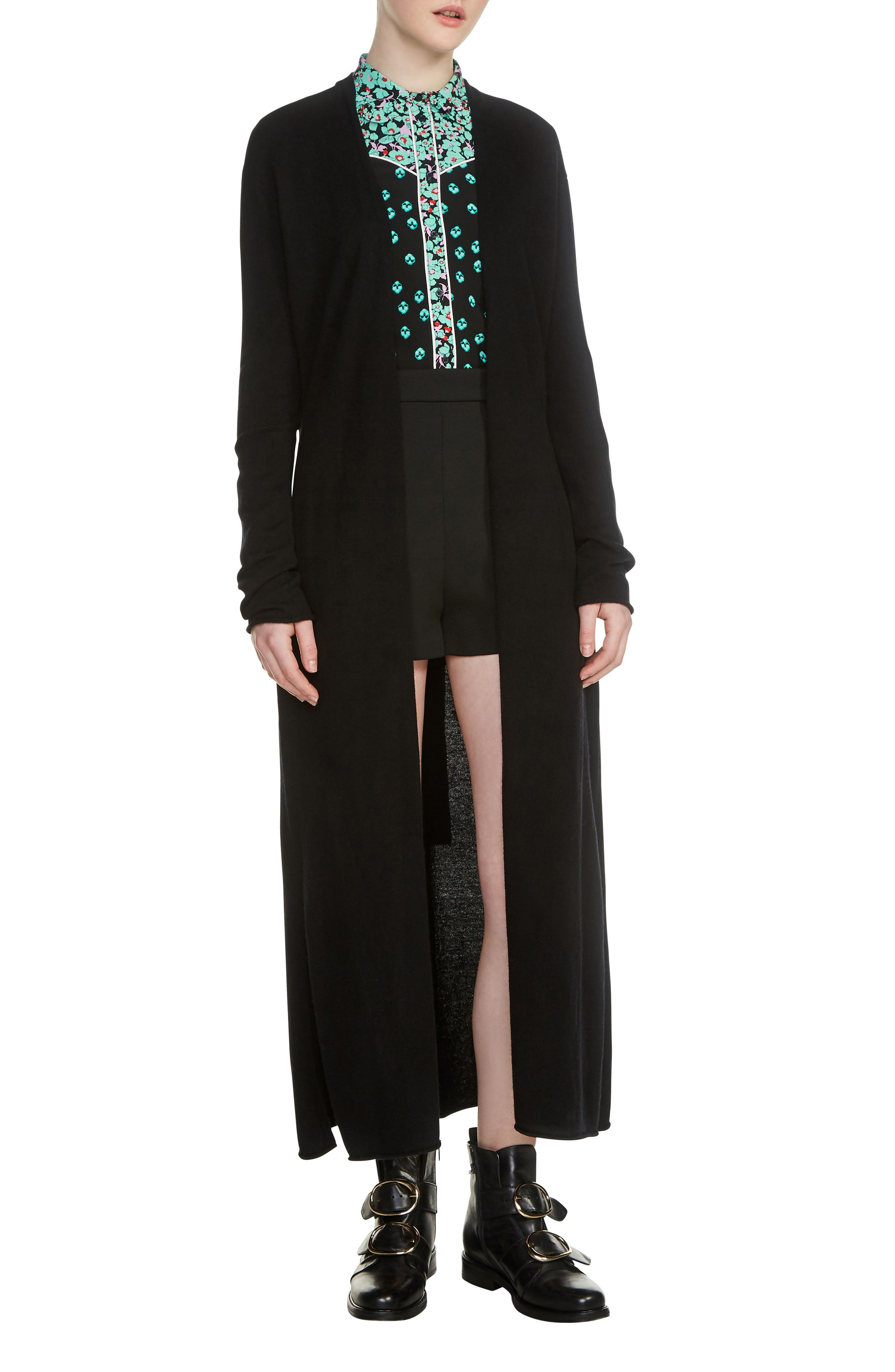 Marina Long Open Front Cardigan,                         Main,                         color, 001