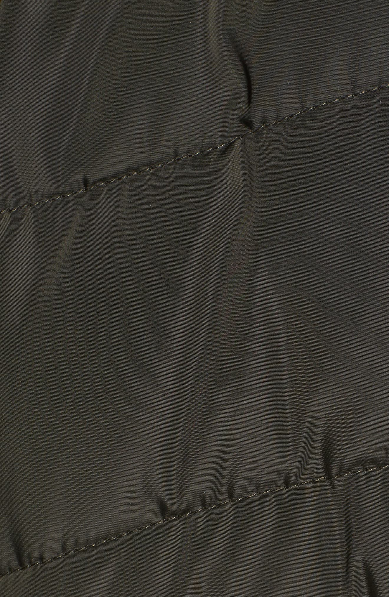 Faux Fur Trim Quilted Anorak,                             Alternate thumbnail 5, color,                             385