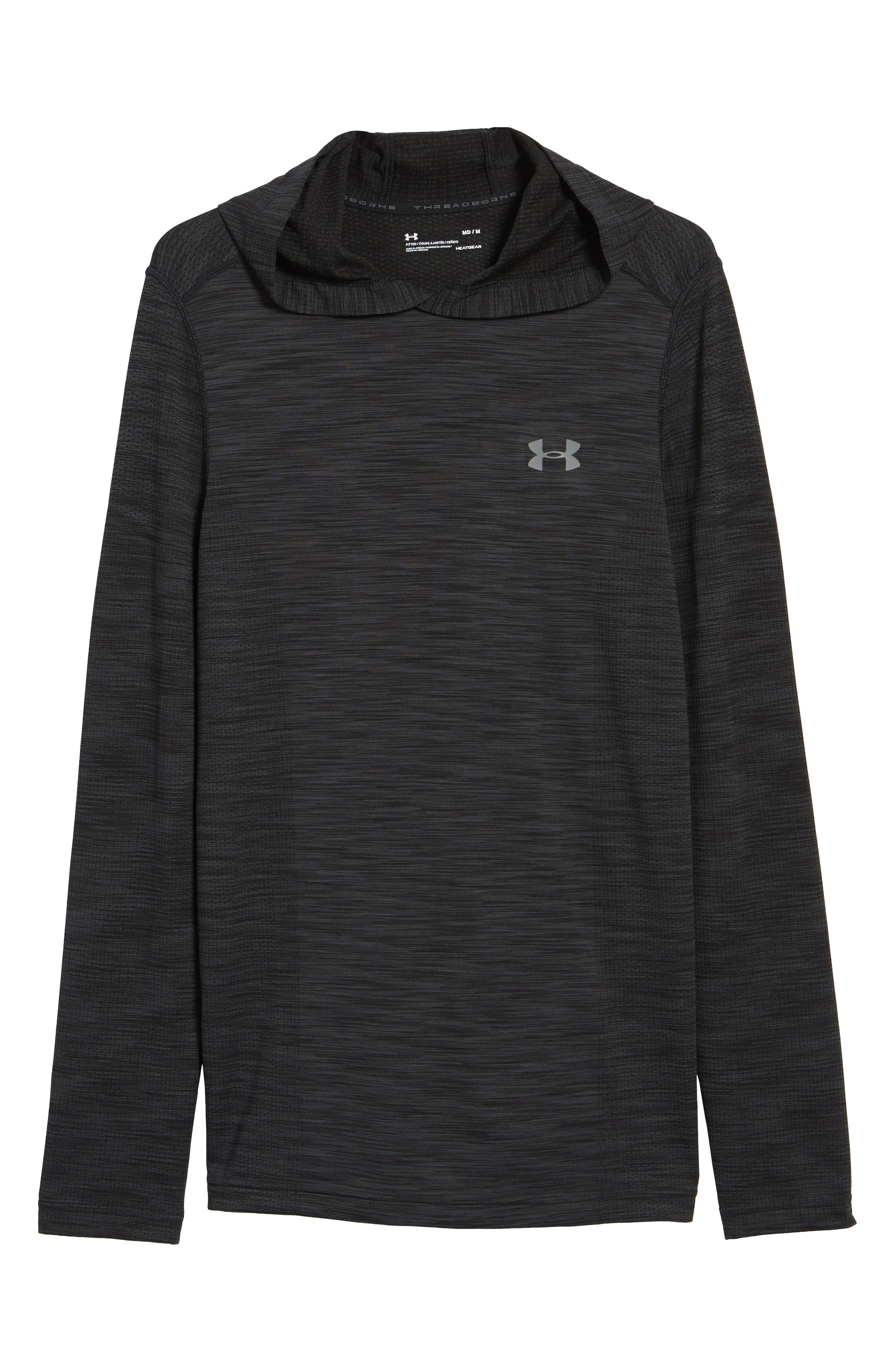 Threadbone Fitted Seamless Hoodie,                             Alternate thumbnail 6, color,                             001