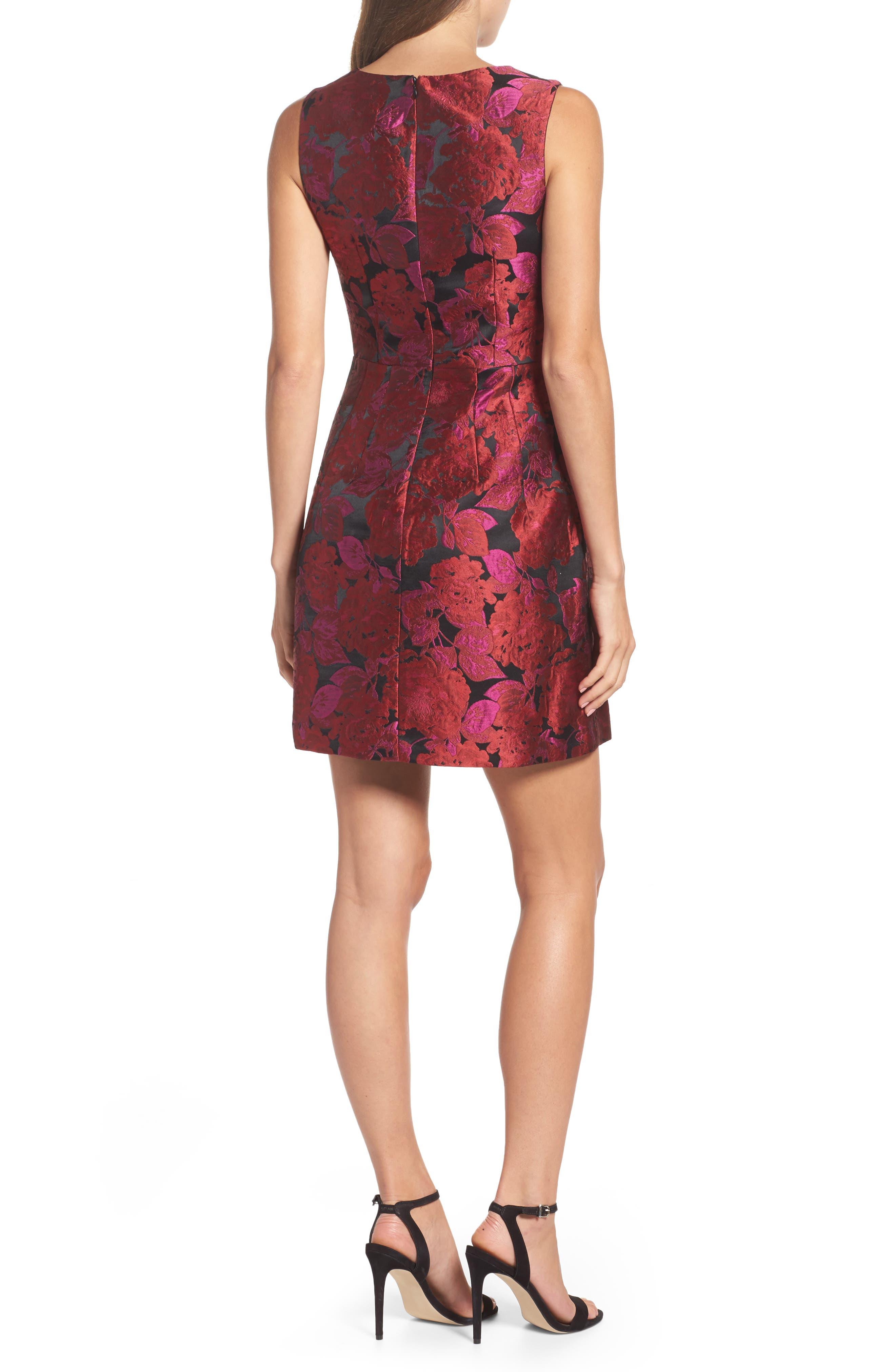 Jacquard Fit & Flare Dress,                             Alternate thumbnail 2, color,                             635