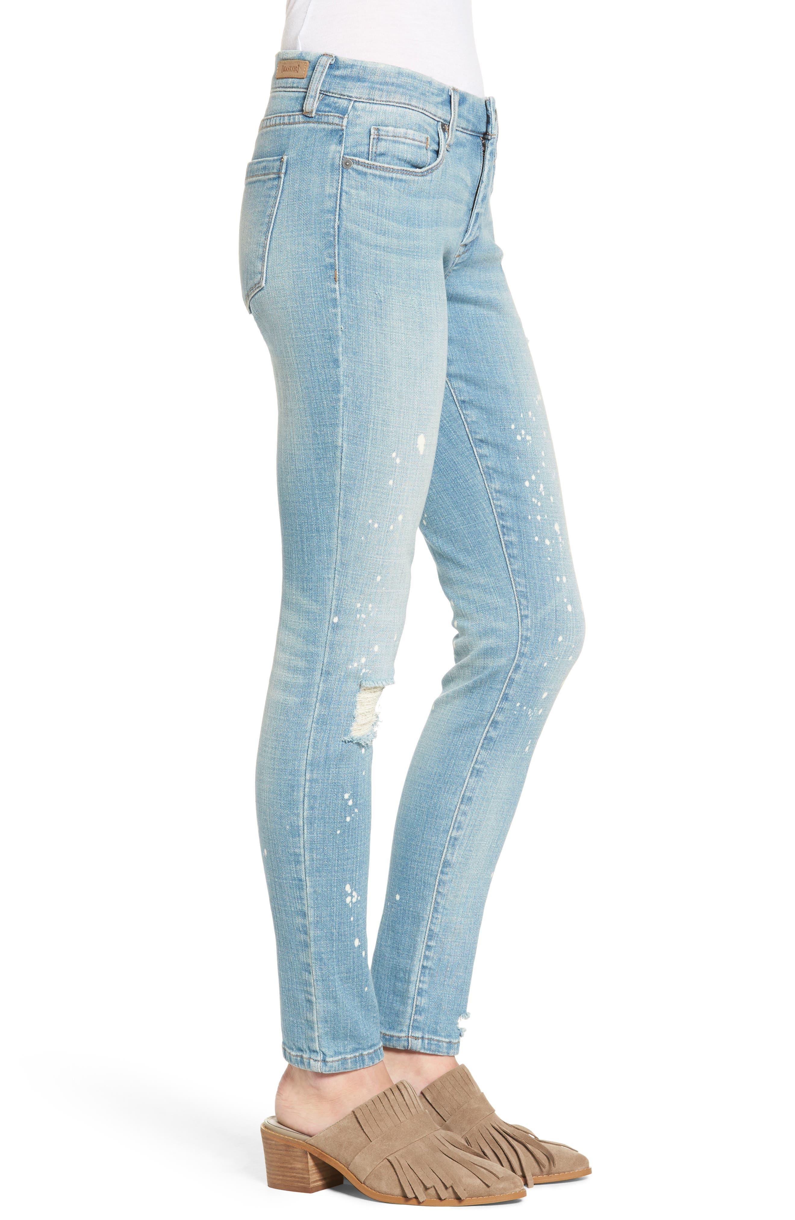 Paint Splatter Skinny Jeans,                             Alternate thumbnail 3, color,                             400
