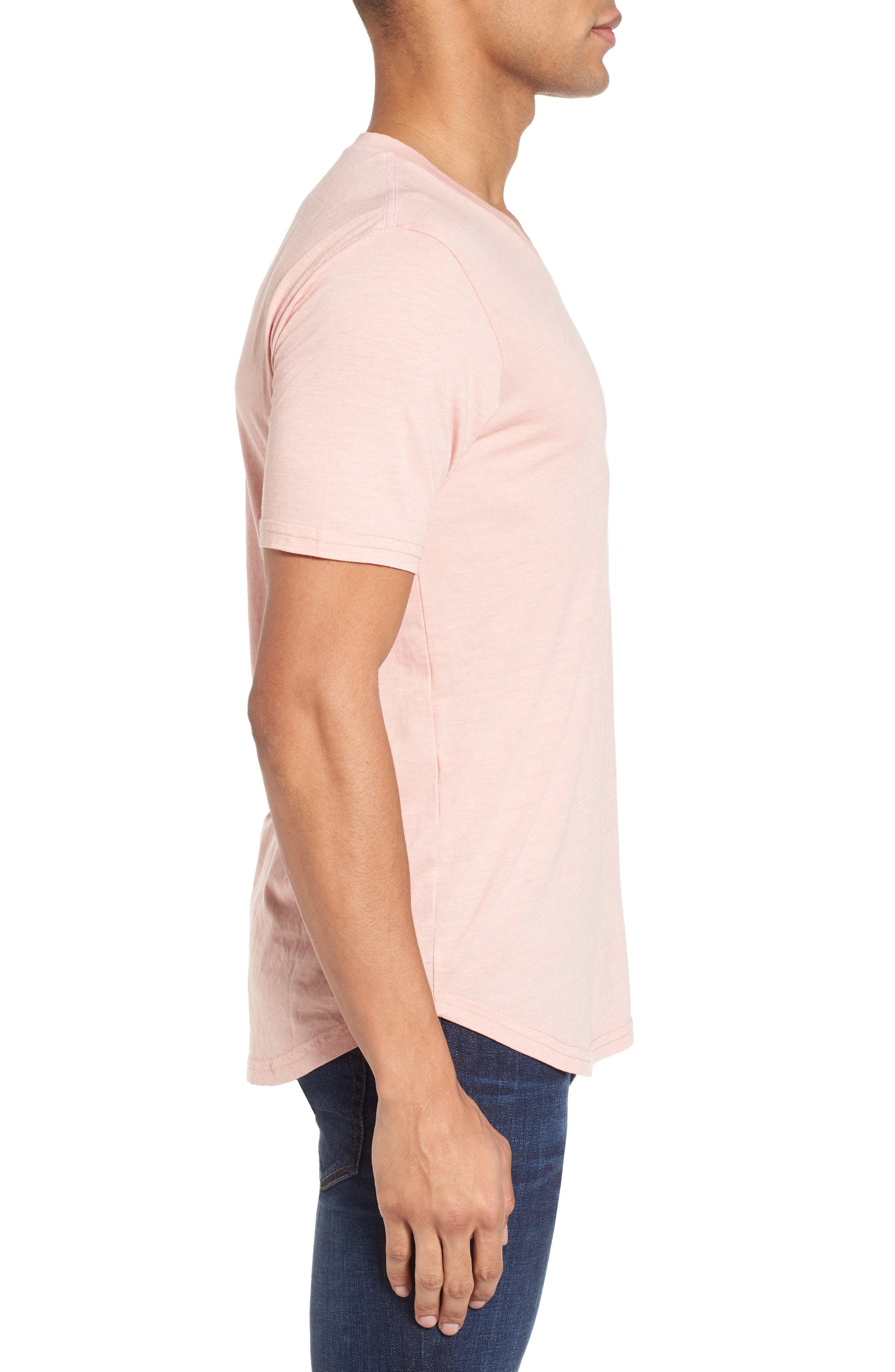 Scallop Triblend V-Neck T-Shirt,                             Alternate thumbnail 58, color,