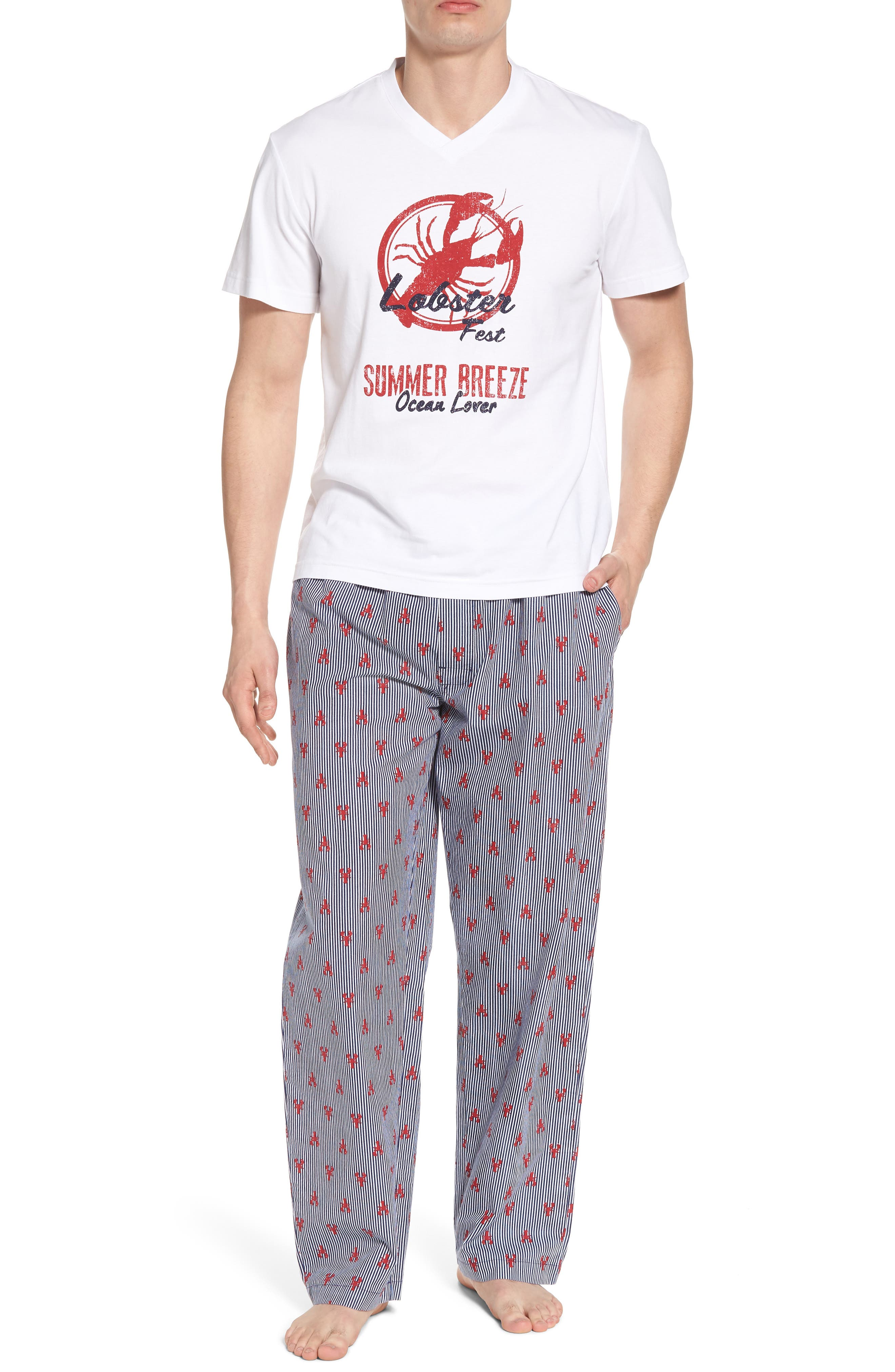 All Hands on Deck Pajama Set,                         Main,                         color, 100